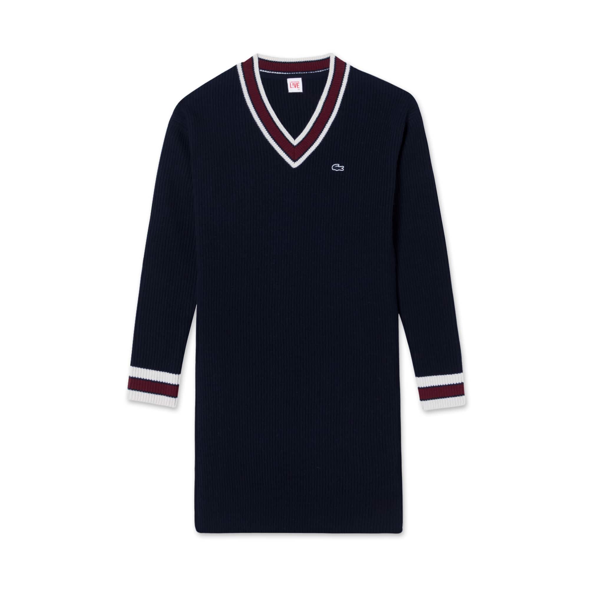 (여성) 라코스테 브이넥 스웨터 드레스