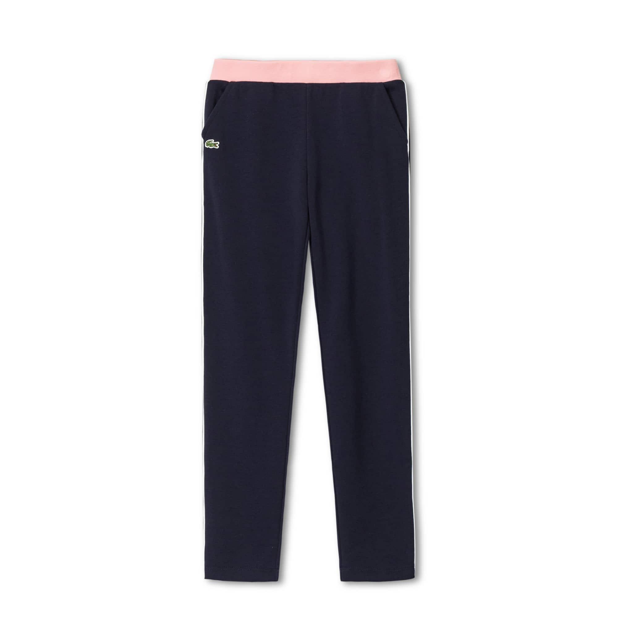 女童撞色装饰羊毛运动裤