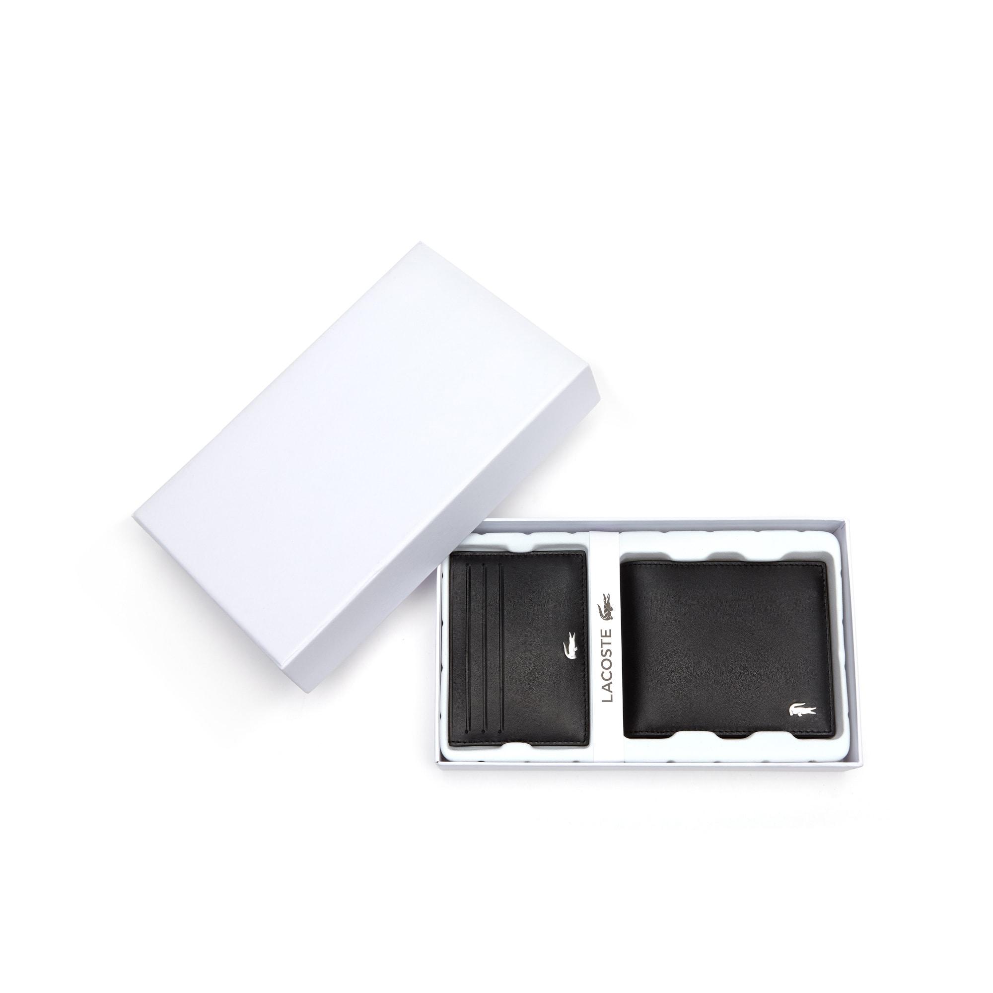 (남성) 피츠제럴드 레더 지갑과 카드 홀더 세트