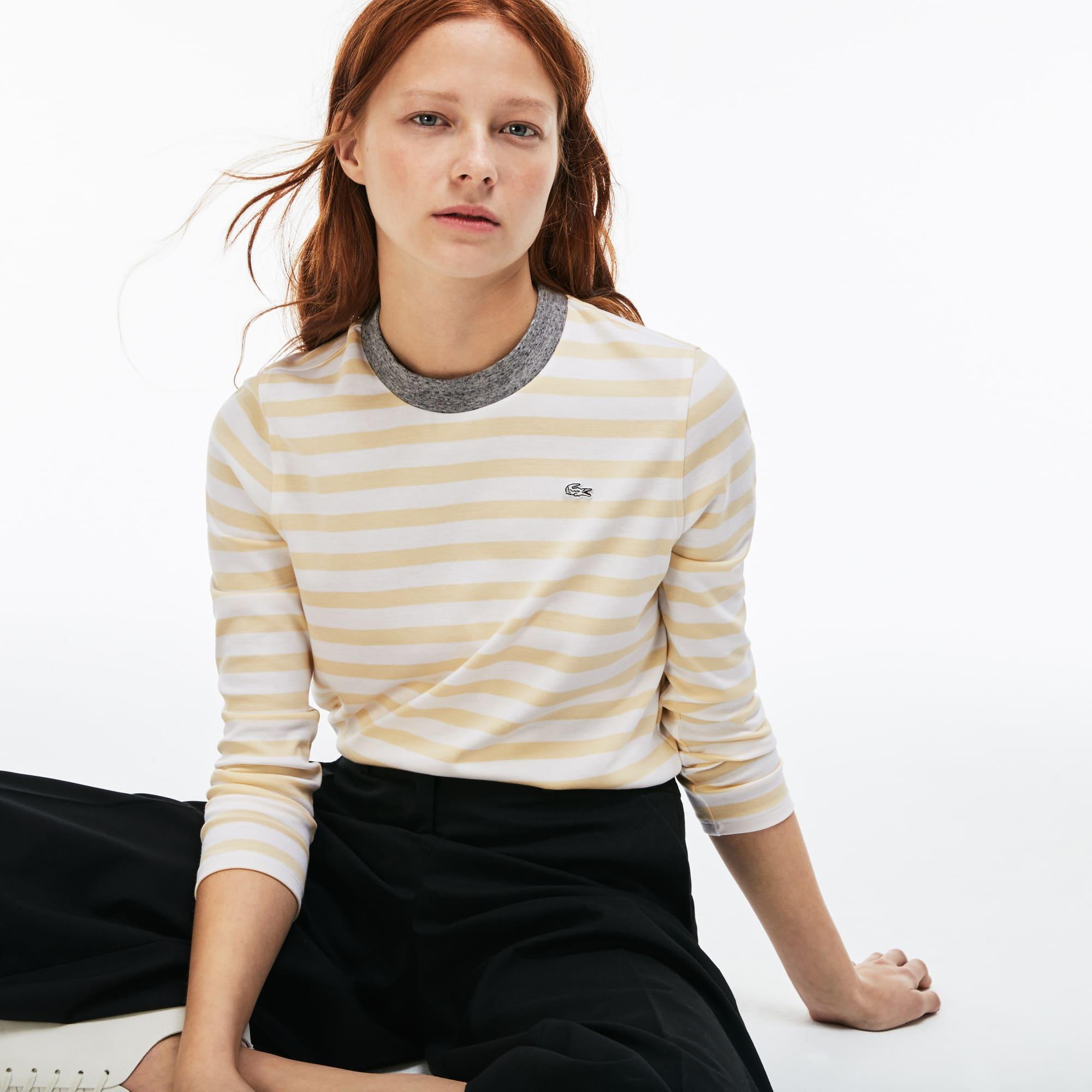 (여성) 스트라이프 저지 티셔츠