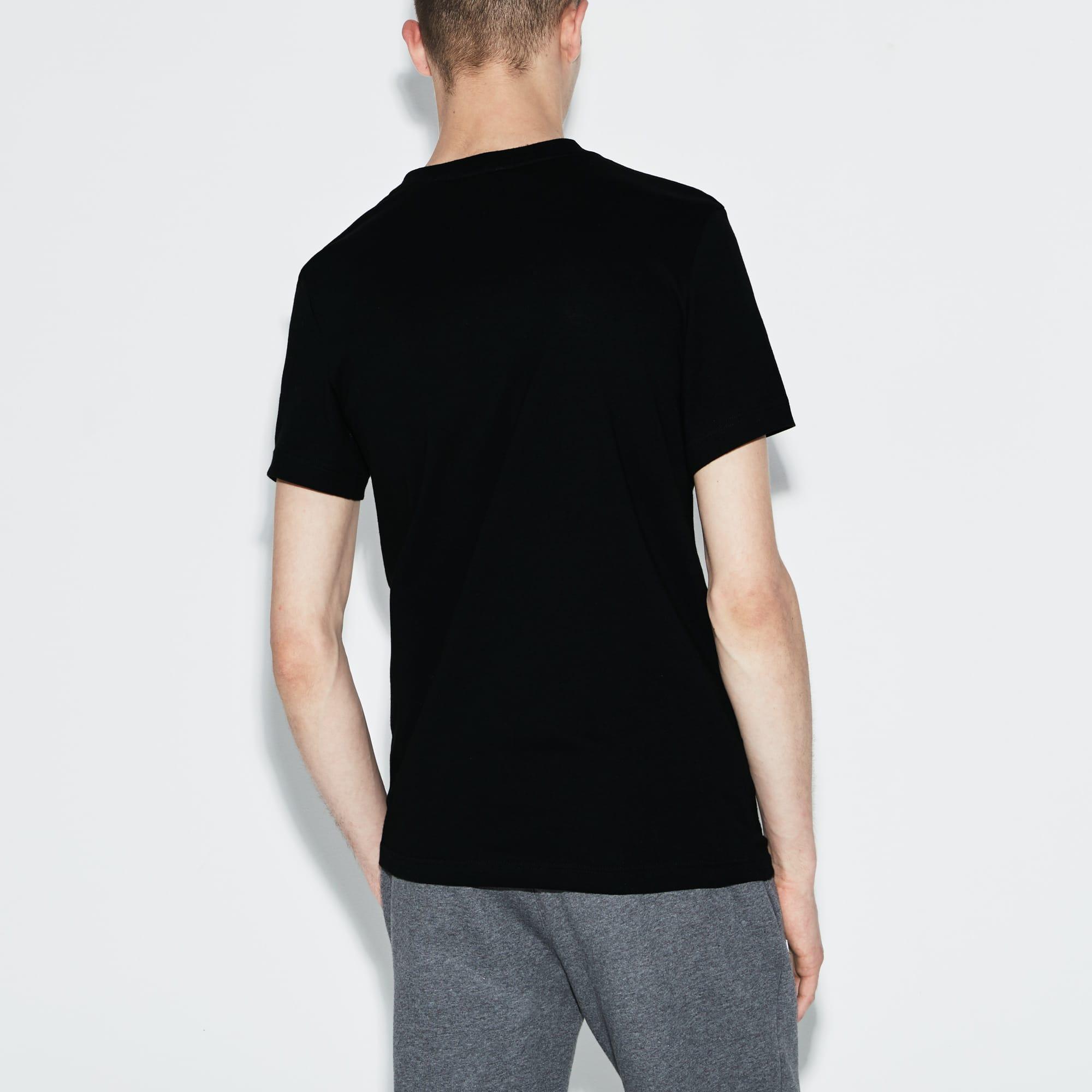 Lacoste SPORT男士圆领字母平纹单面针织网球T恤