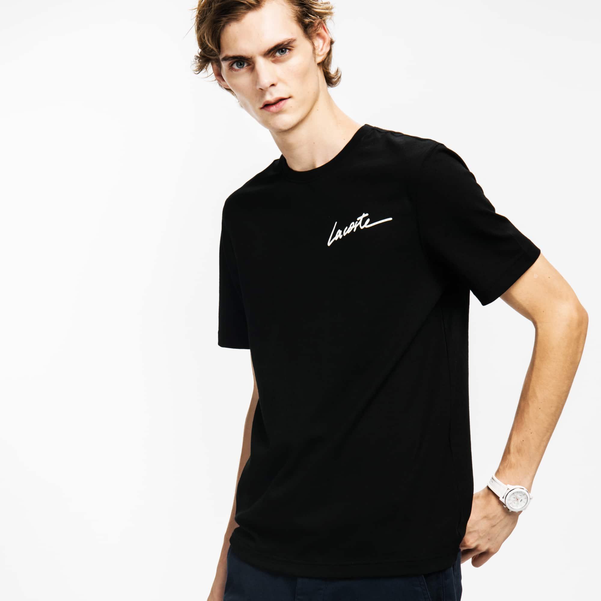 Lacoste LIVE男士圆领Lacoste标志性平纹单面针织T恤