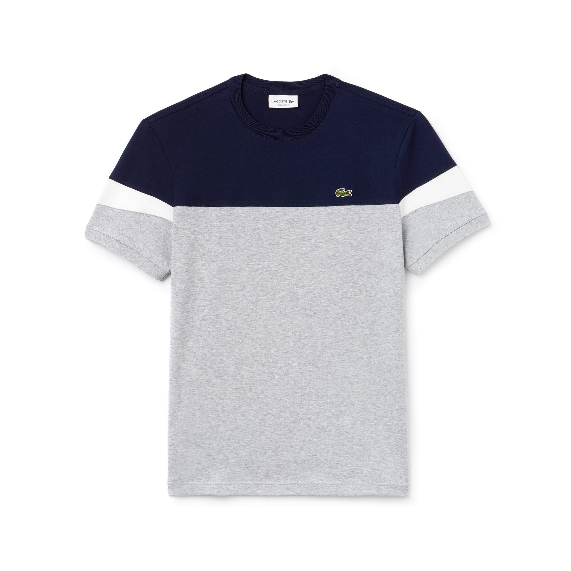 (남성) 배색 크루넥 소프트 저지 티셔츠