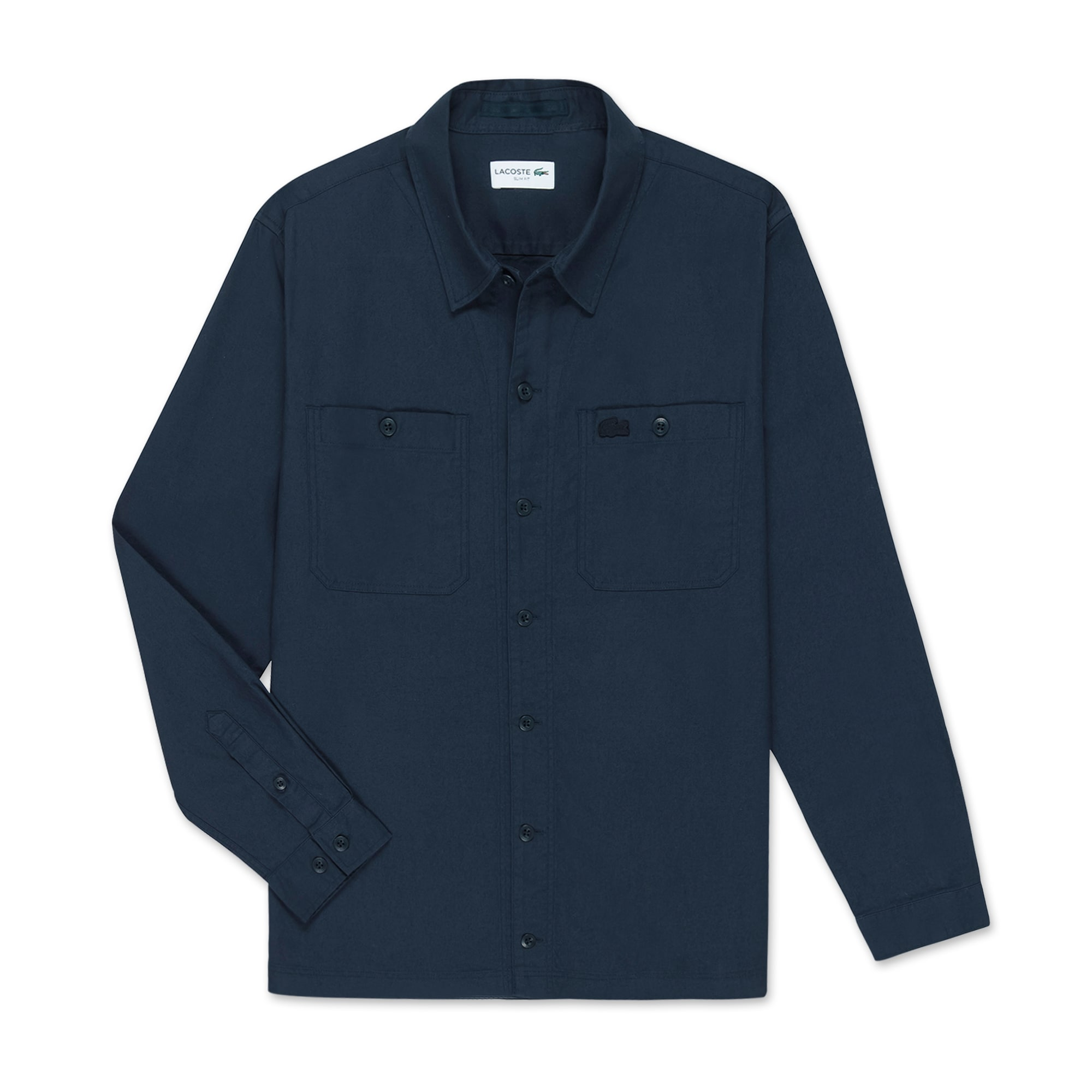 (남성) 라코스테 솔리드 플란넬 트윌 아우터형 셔츠