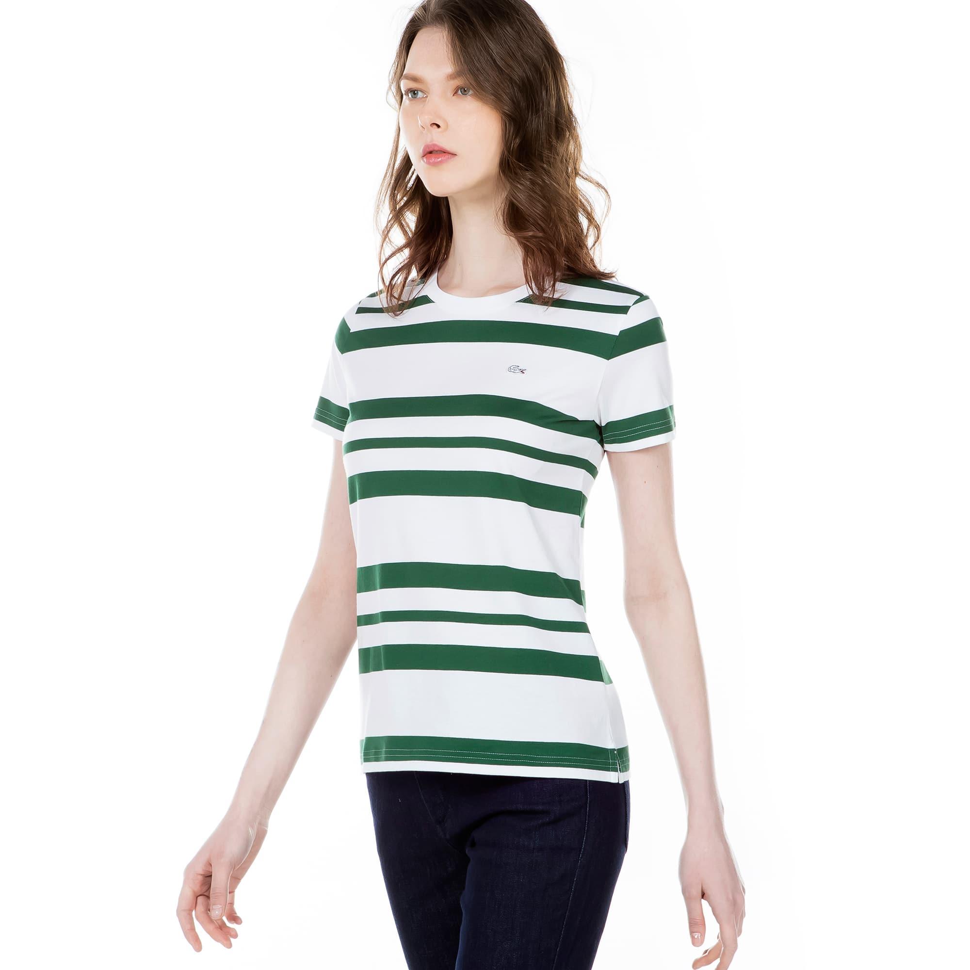 (여성) 스트라이프 변형 반팔 티셔츠