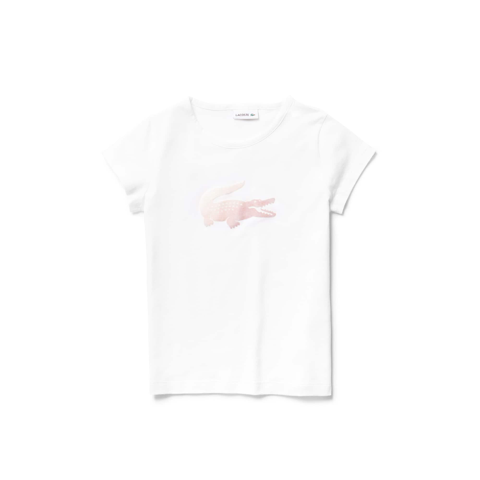 (키즈) 오버사이즈 악어 로고 크루넥 저지 스트라이프 티셔츠