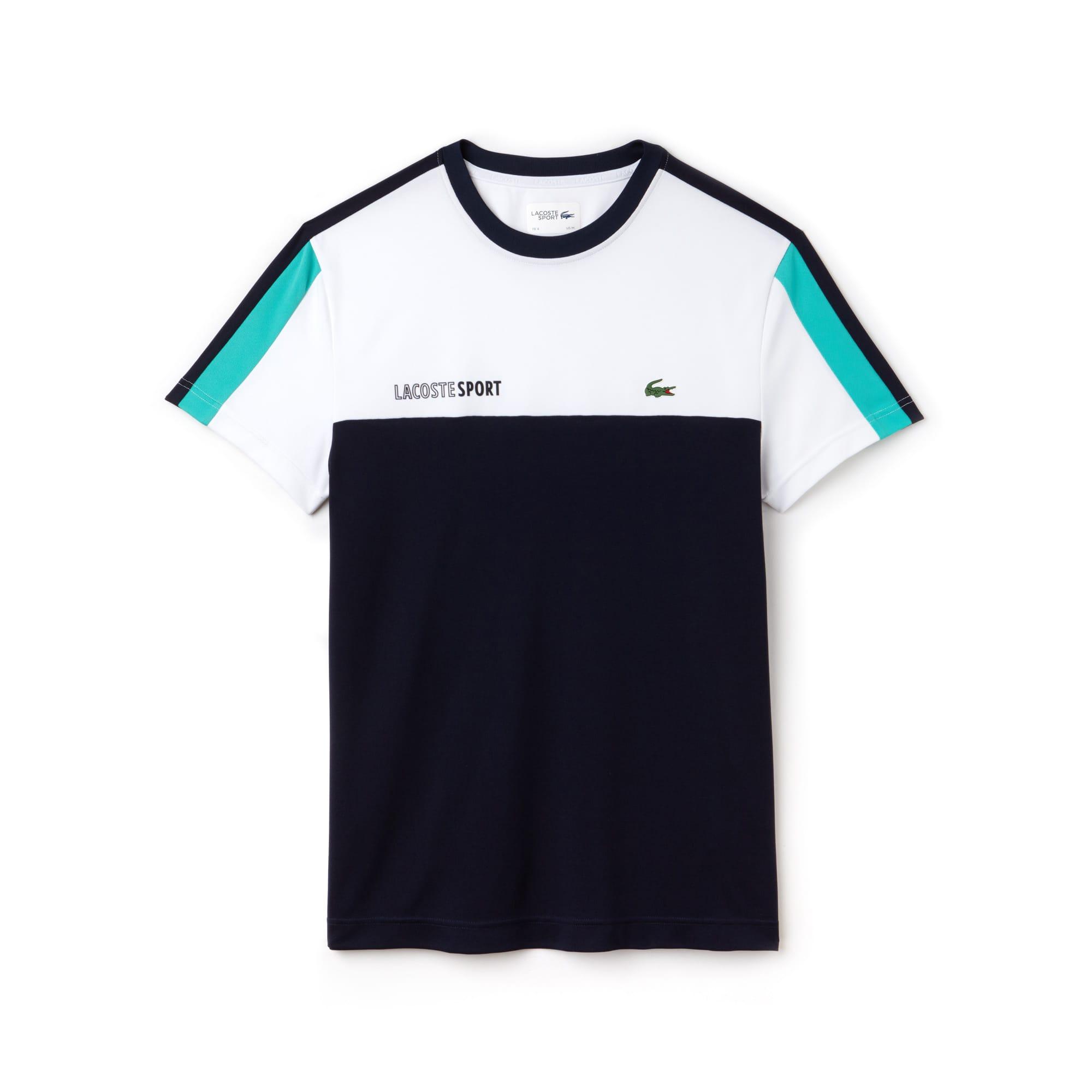 (남성) 라코스테 스포츠 크루넥 배색 피케 테니스 티셔츠