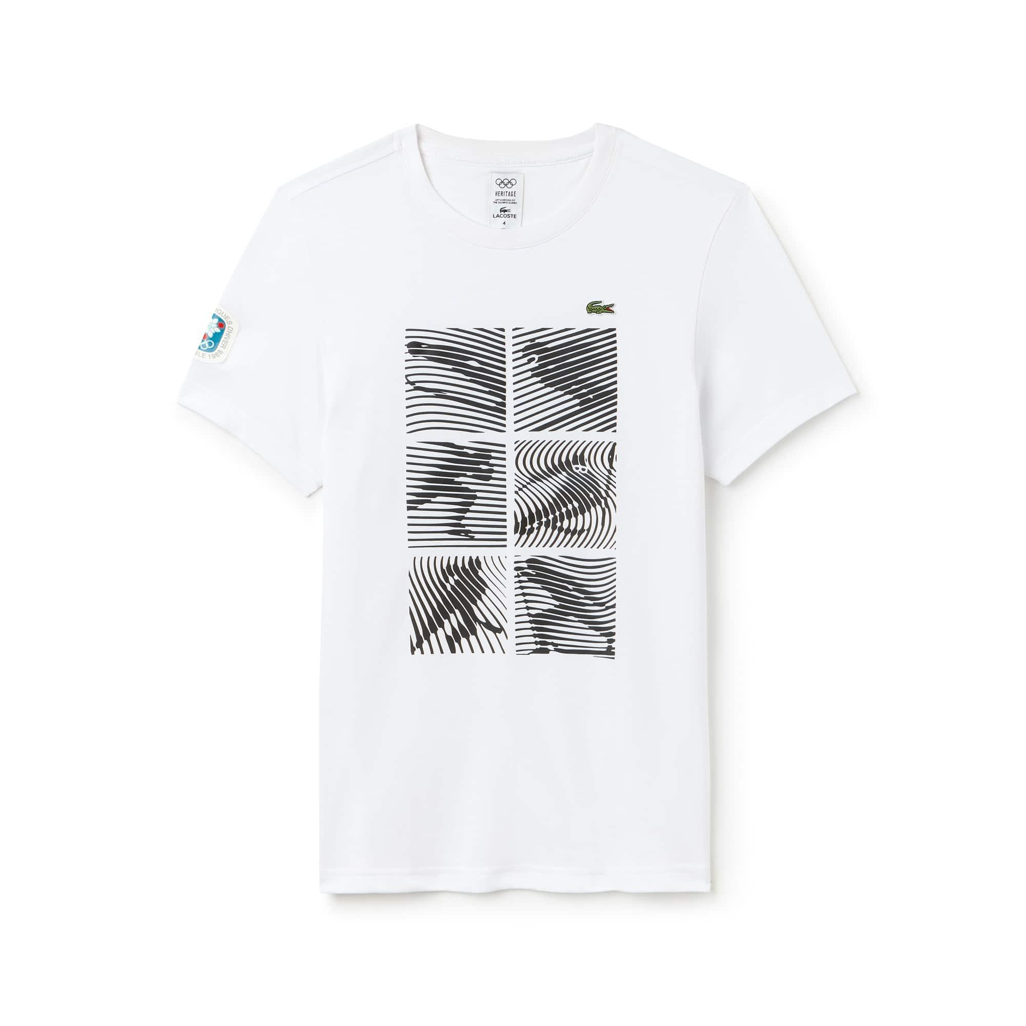 (남성) 라코스테 스포츠 Grenoble Heritage 1968 기능성 저지 티셔츠