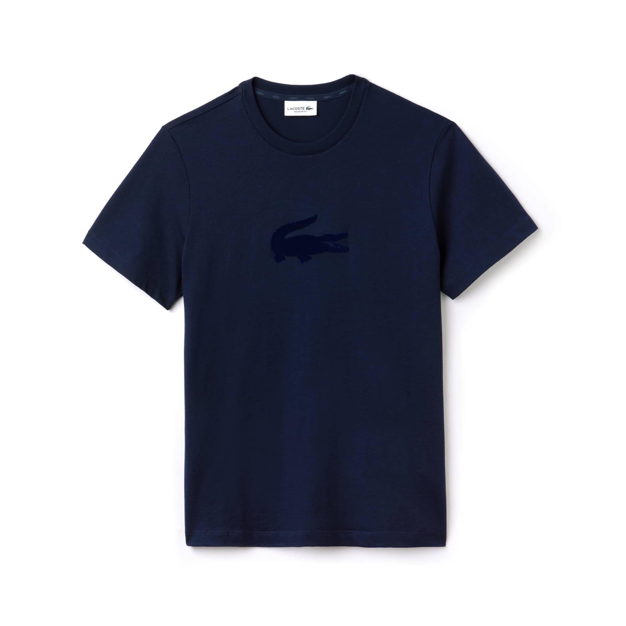 (남성) 오버사이즈 악어 로고 크루넥 저지 티셔츠