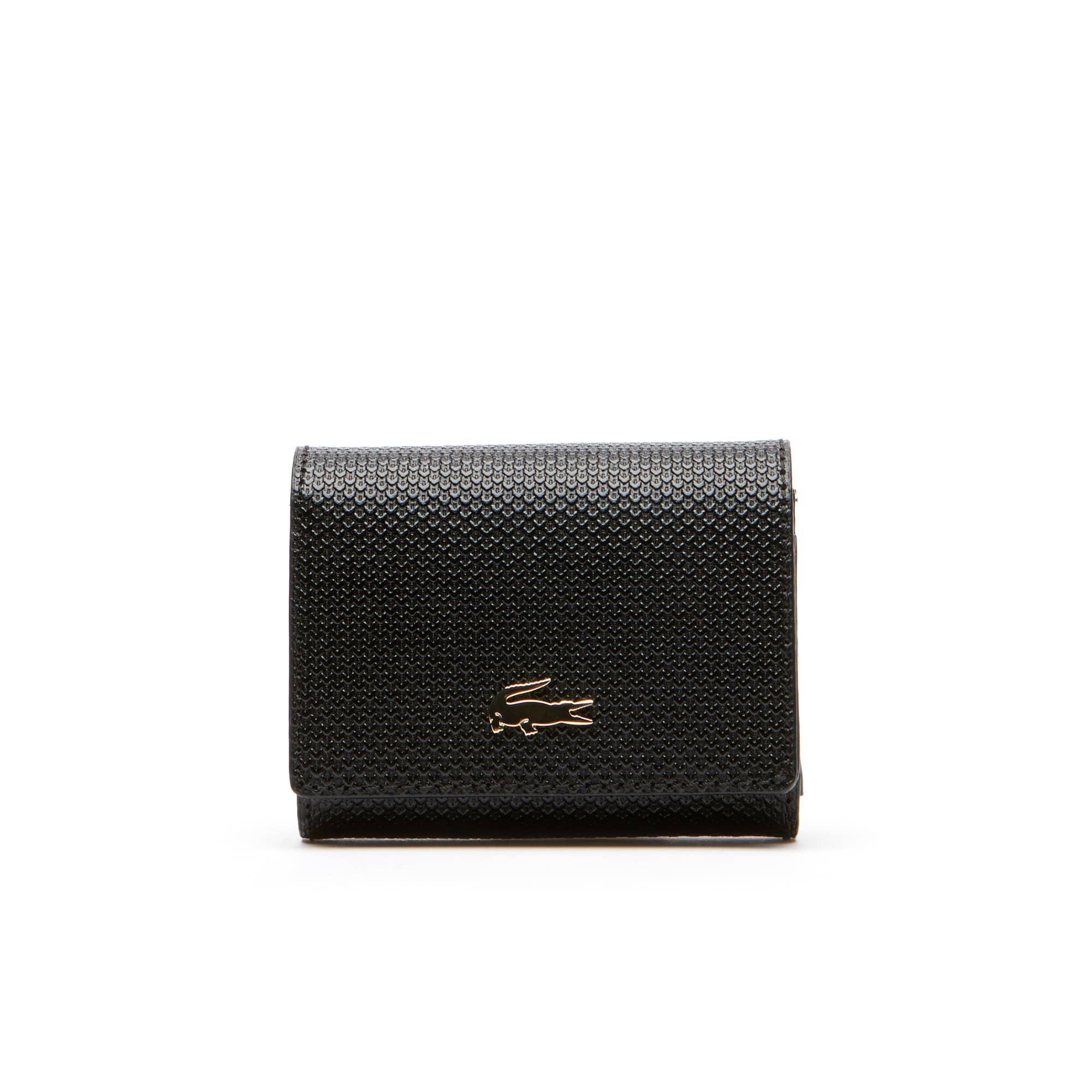 (여성) [샨타코] 투톤 피케 레더 3 슬롯 카드 지갑
