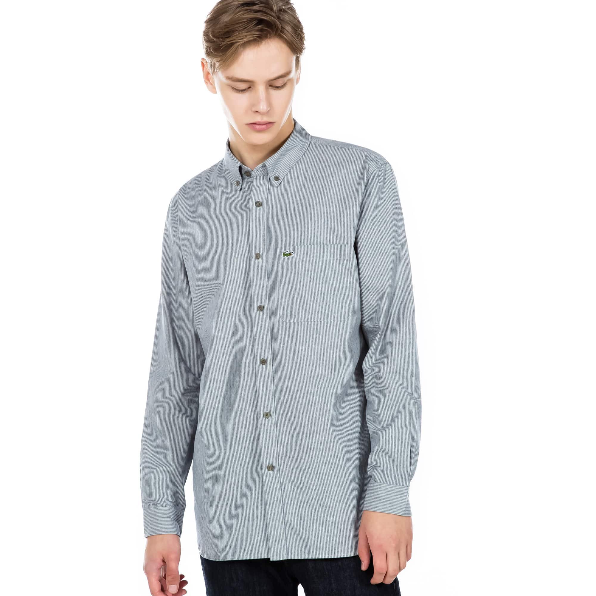(남성) 라코스테 핀 스트라이프 셔츠