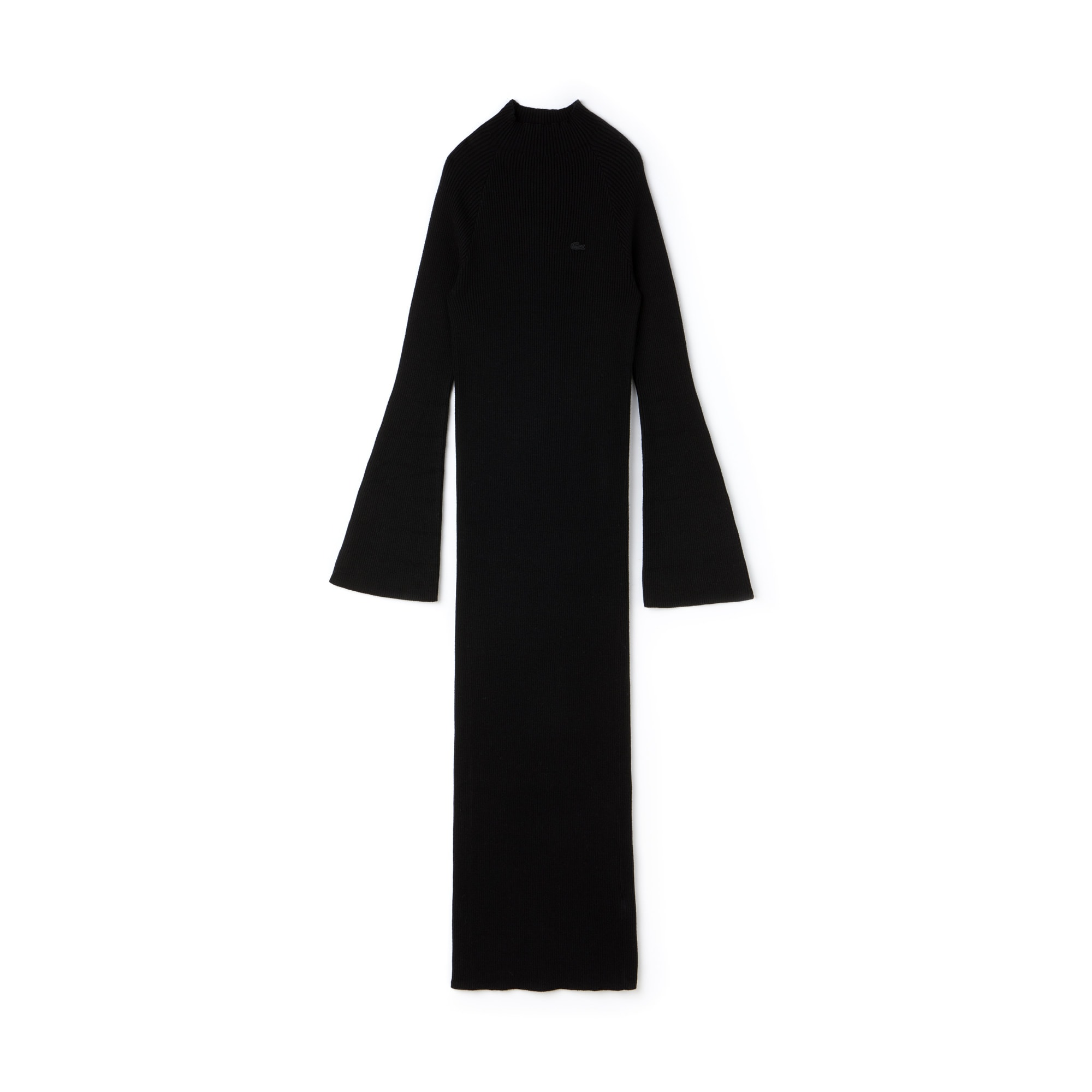 Lacoste LIVE系列贴身罗纹棉和羊绒混纺女士裙装
