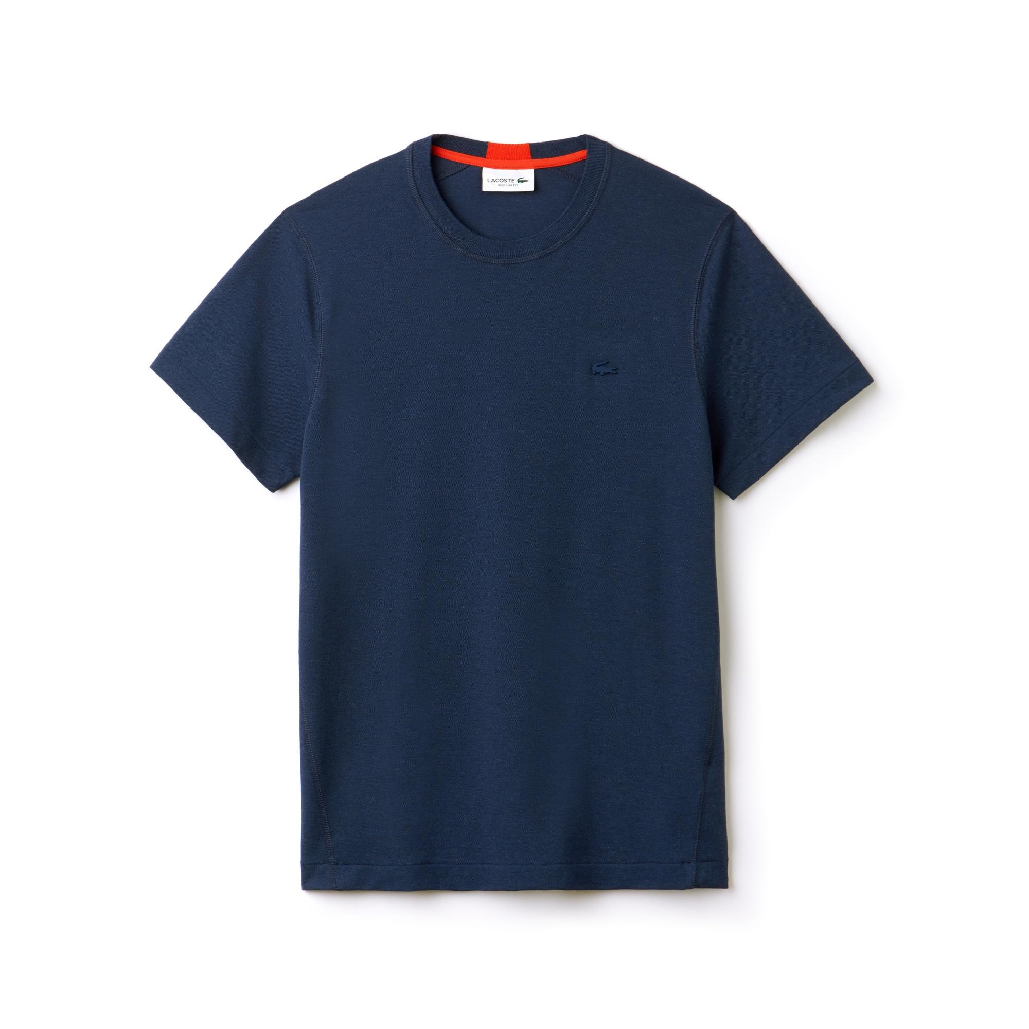 (남성) 라코스테 모션 크루넥 기능성 쁘띠 피케 티셔츠