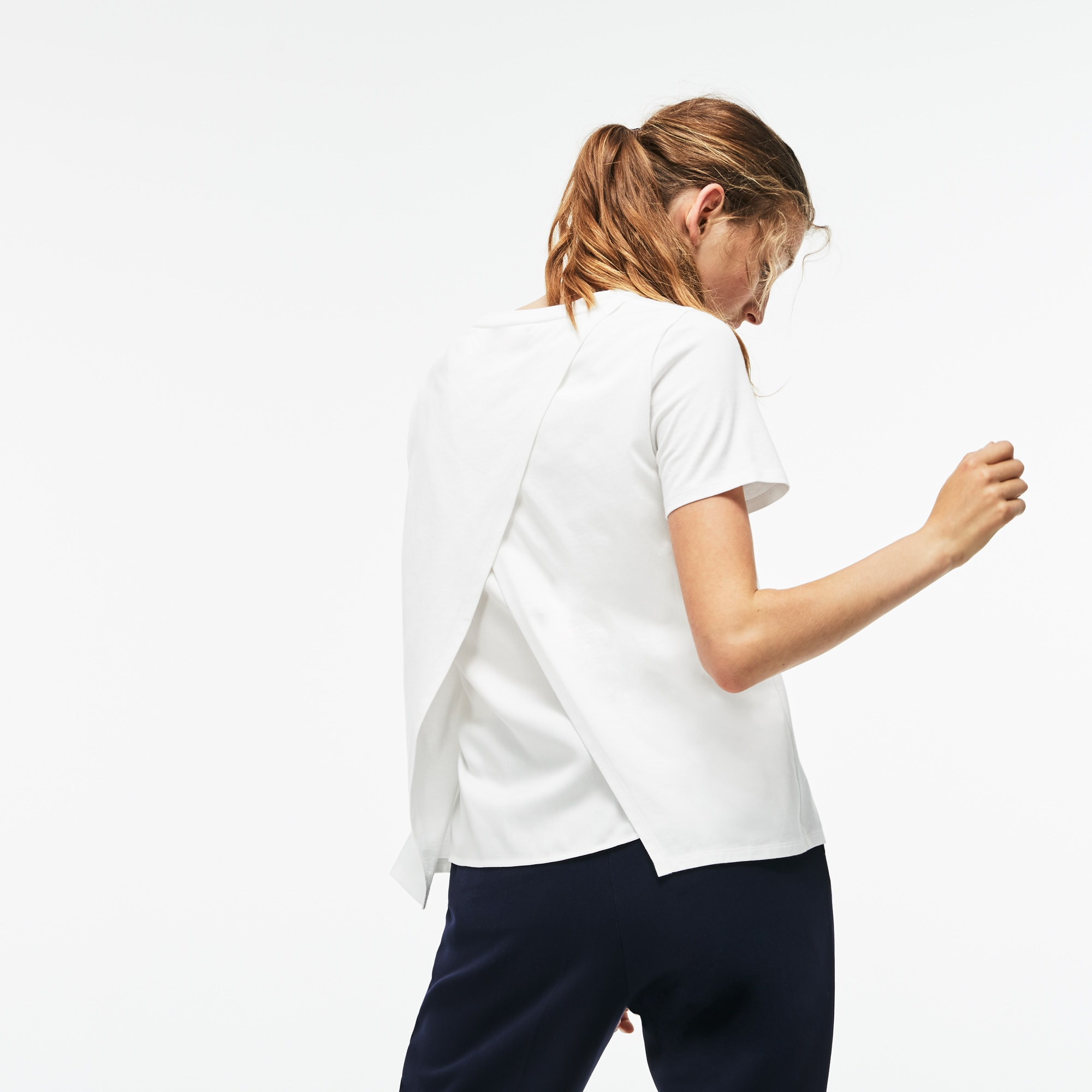 女士纯色棉质短袖T恤