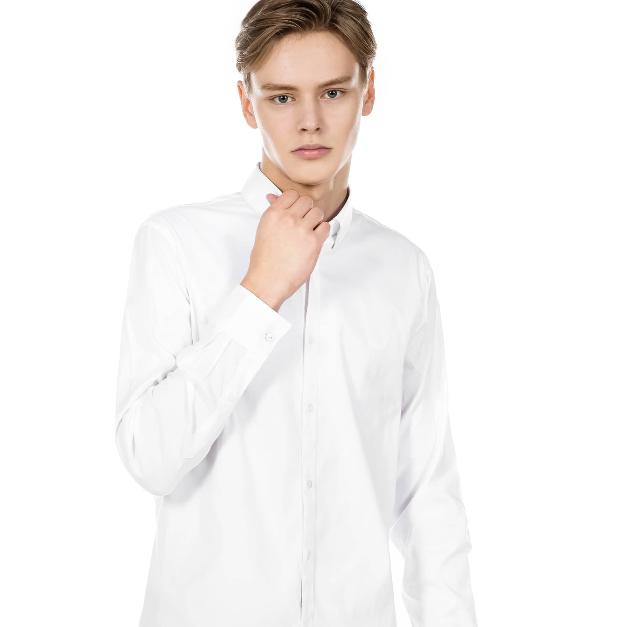 (남성) 라코스테 핀포인트 코튼 슬림 셔츠