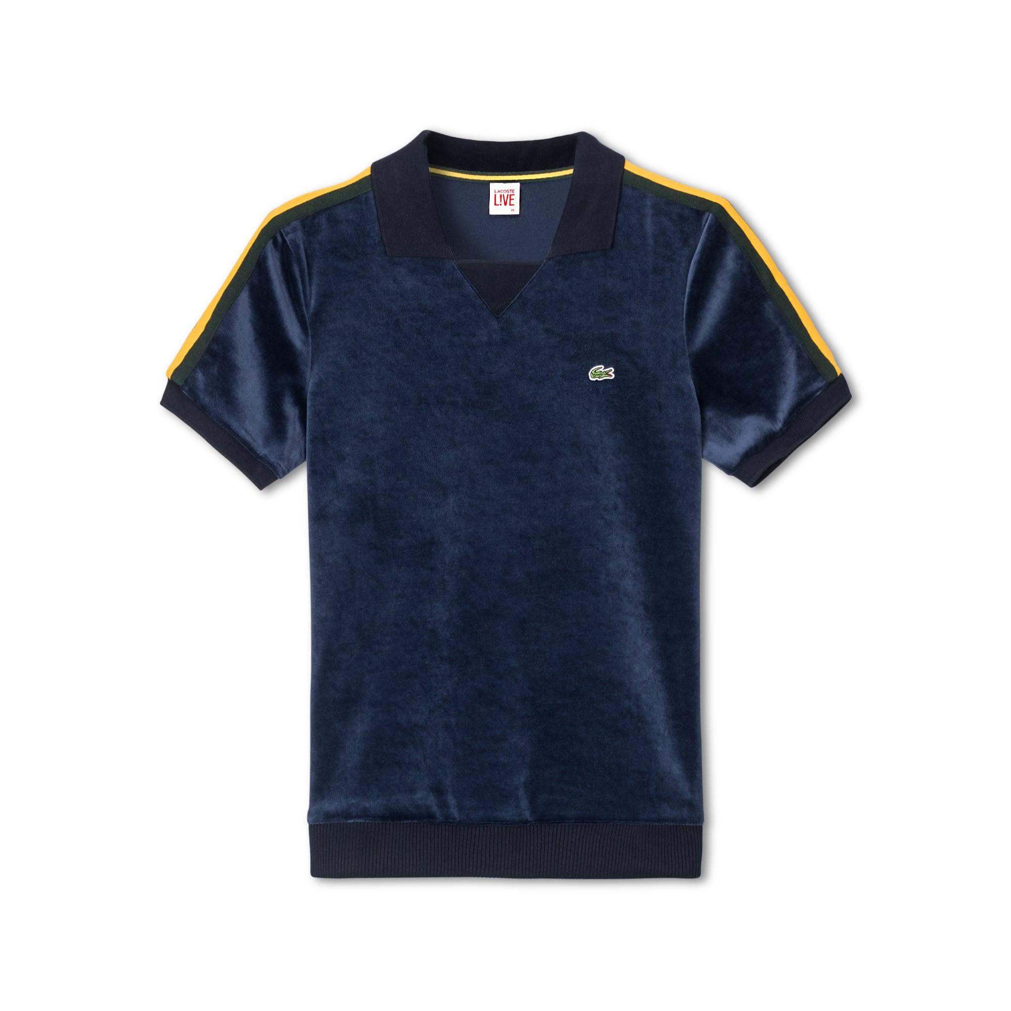 Lacoste LIVE系列宽松版撞色带女士Polo衫