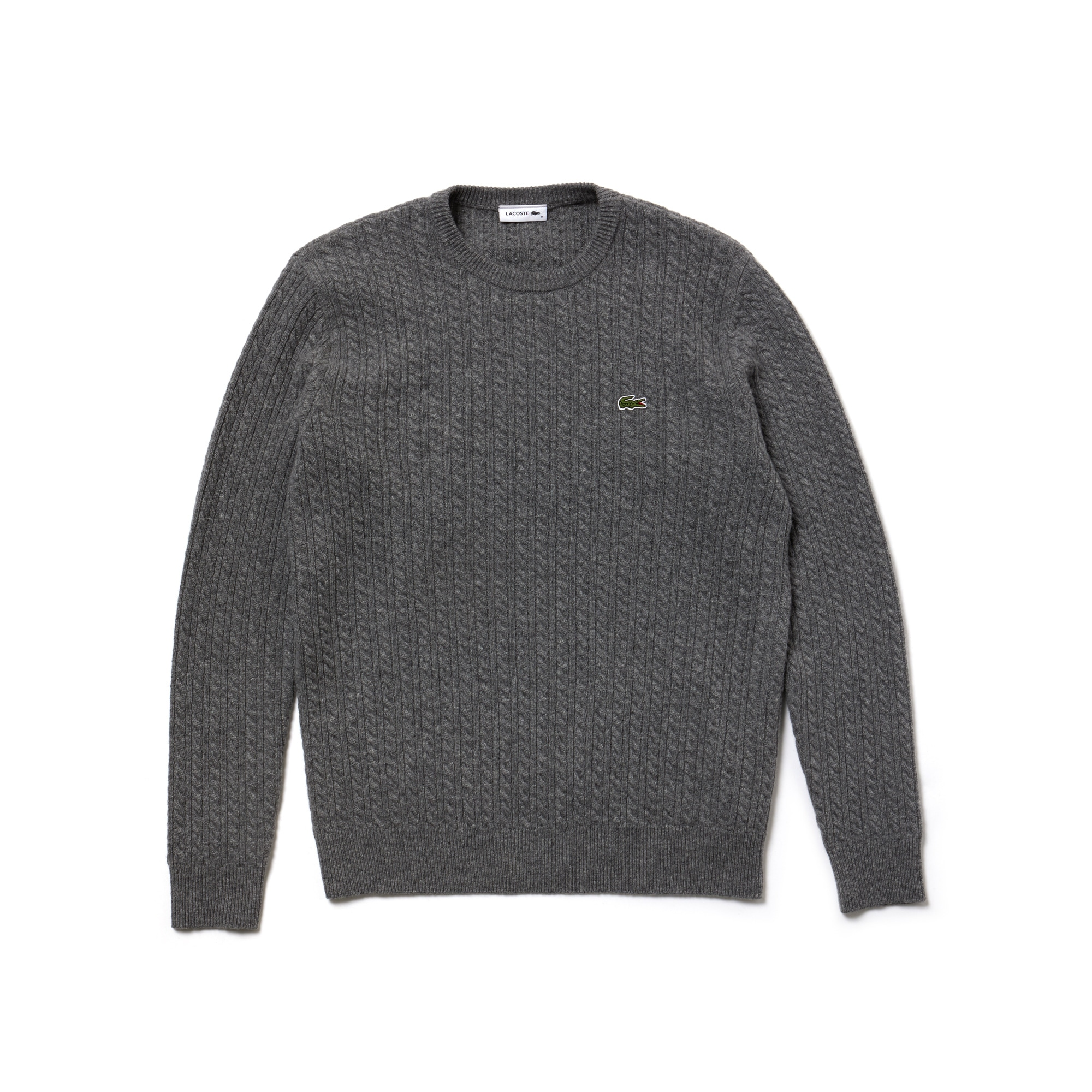 [패션쇼] 남녀 공용 크루넥 캐시미어 케이블 니트 스웨터