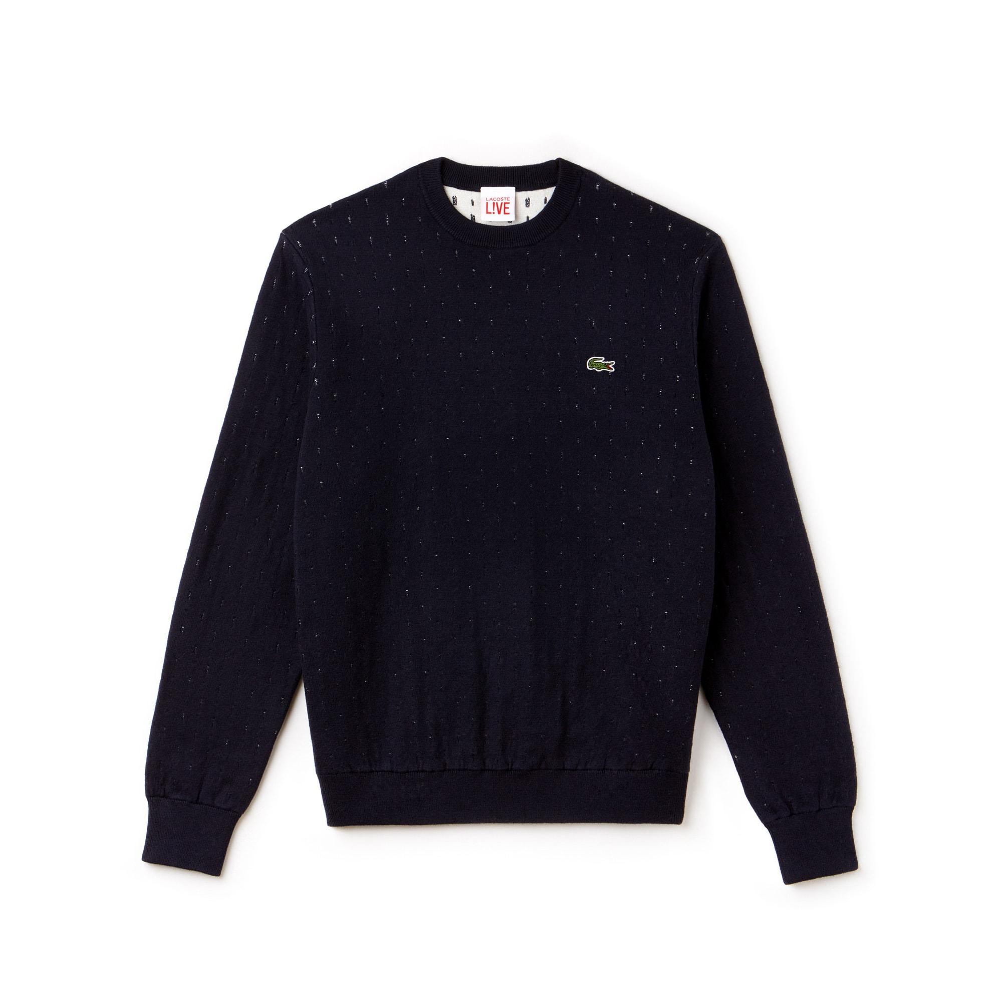 (남성) 라코스테 라이브 코튼 캐시미어 자카드 스웨터