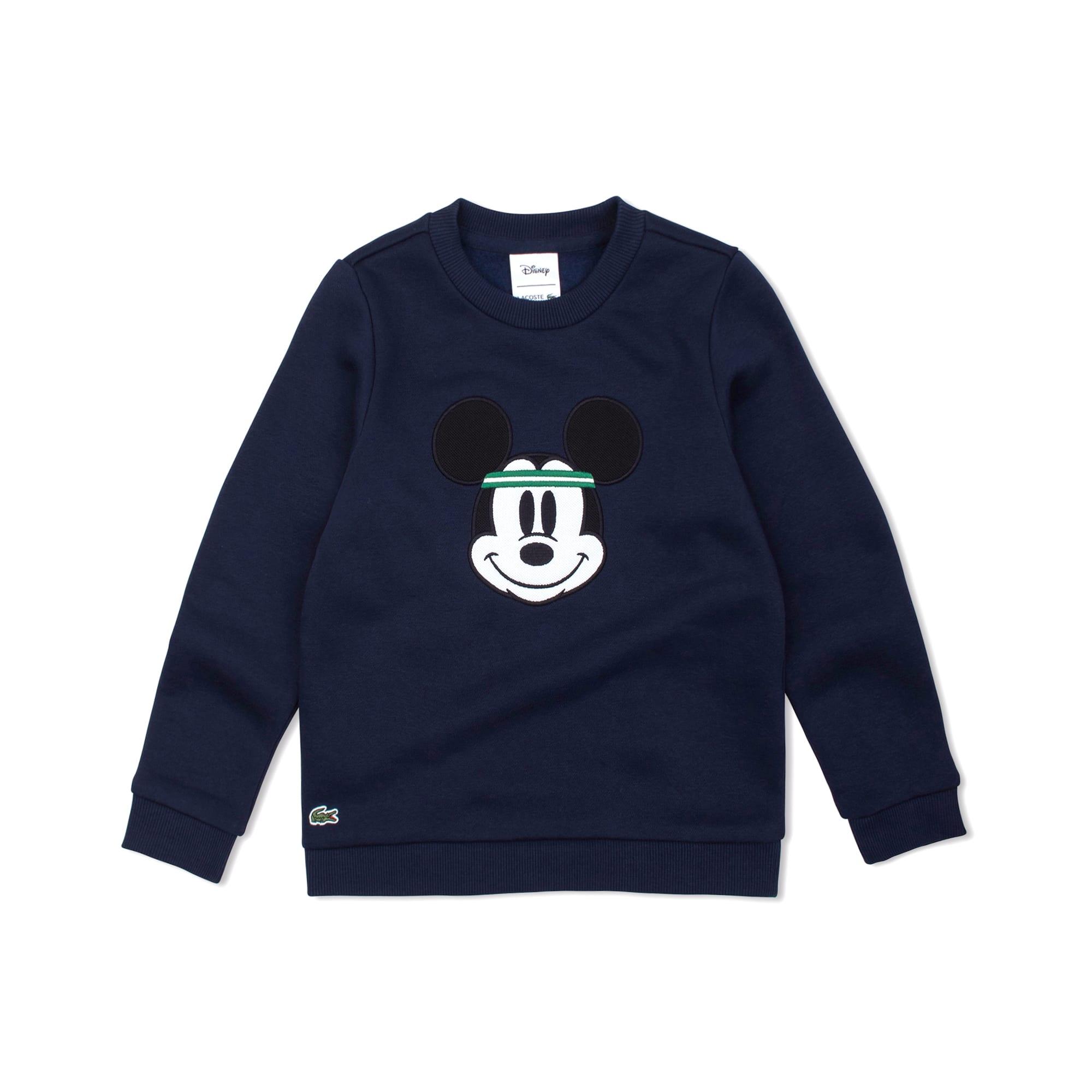 迪士尼印花圆领拉绒儿童运动衫