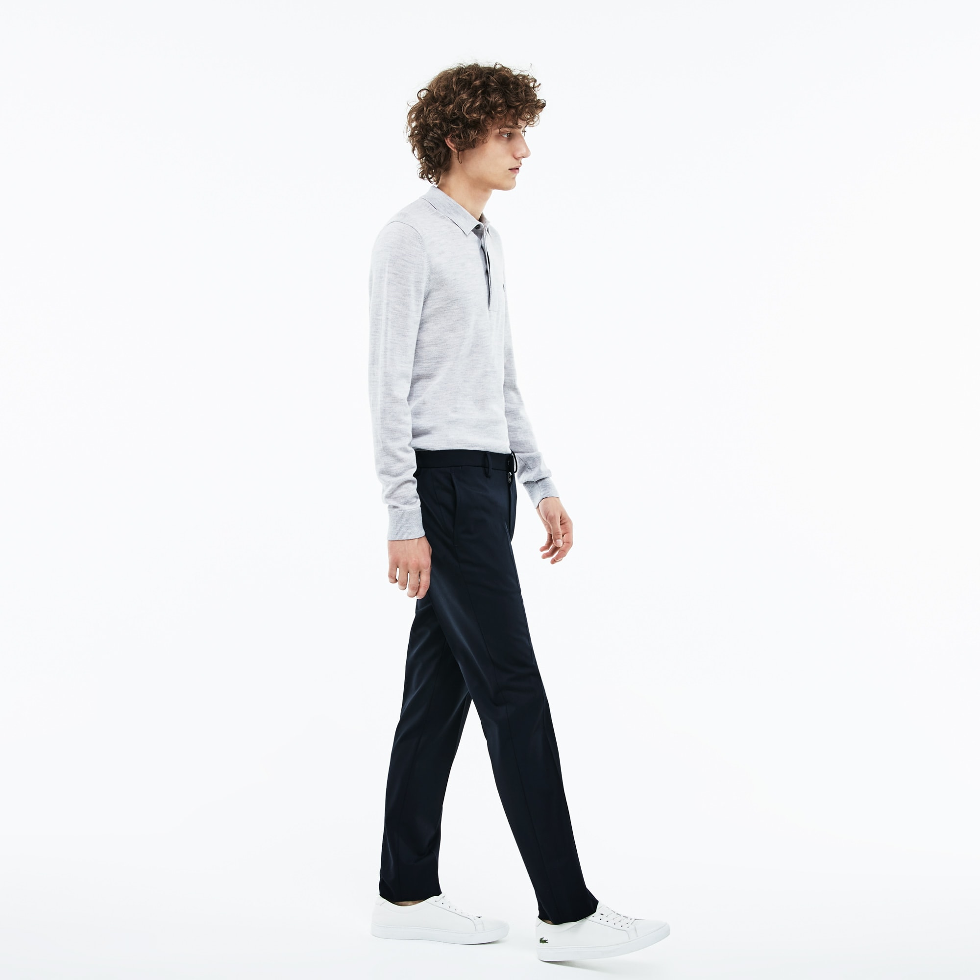 男士修身版弹力斜纹棉布裤