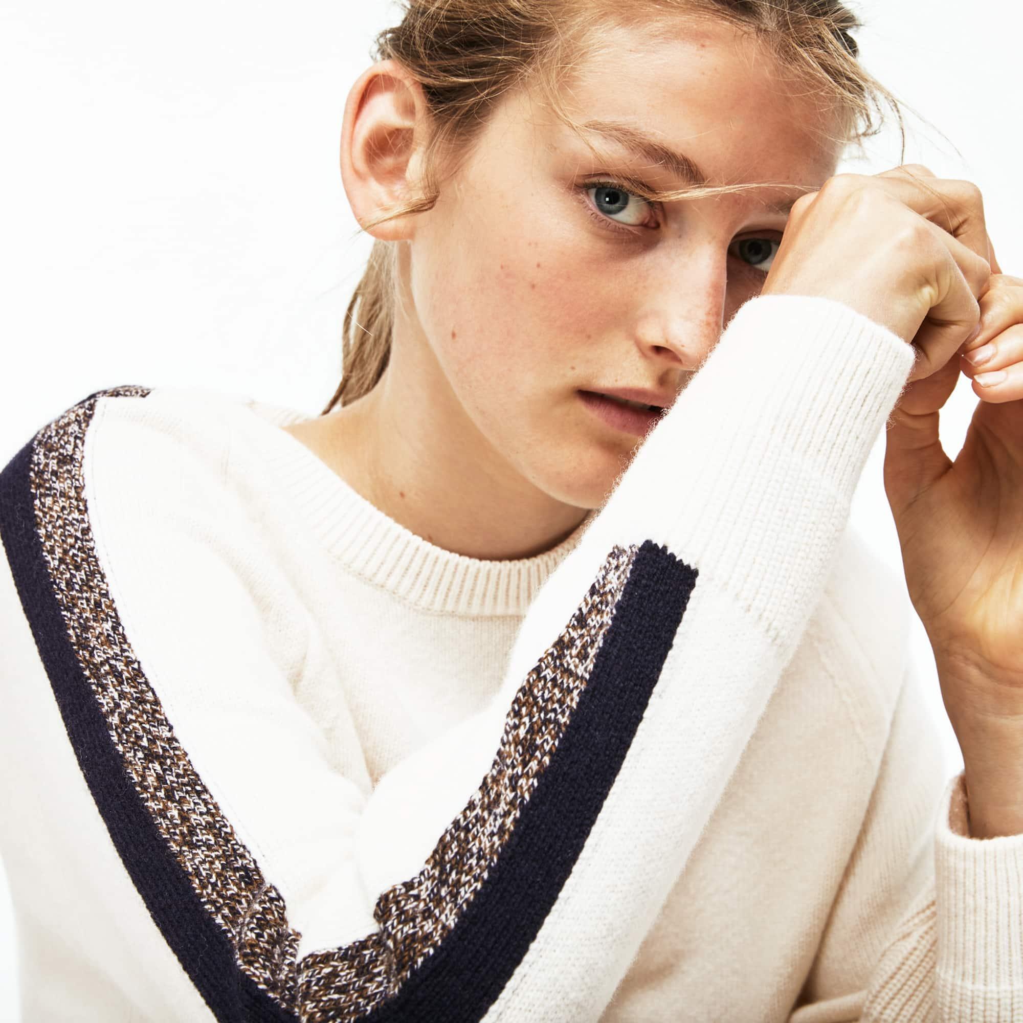 (여성) [Made in France] 배색 밴딩 울 저지 스웨터