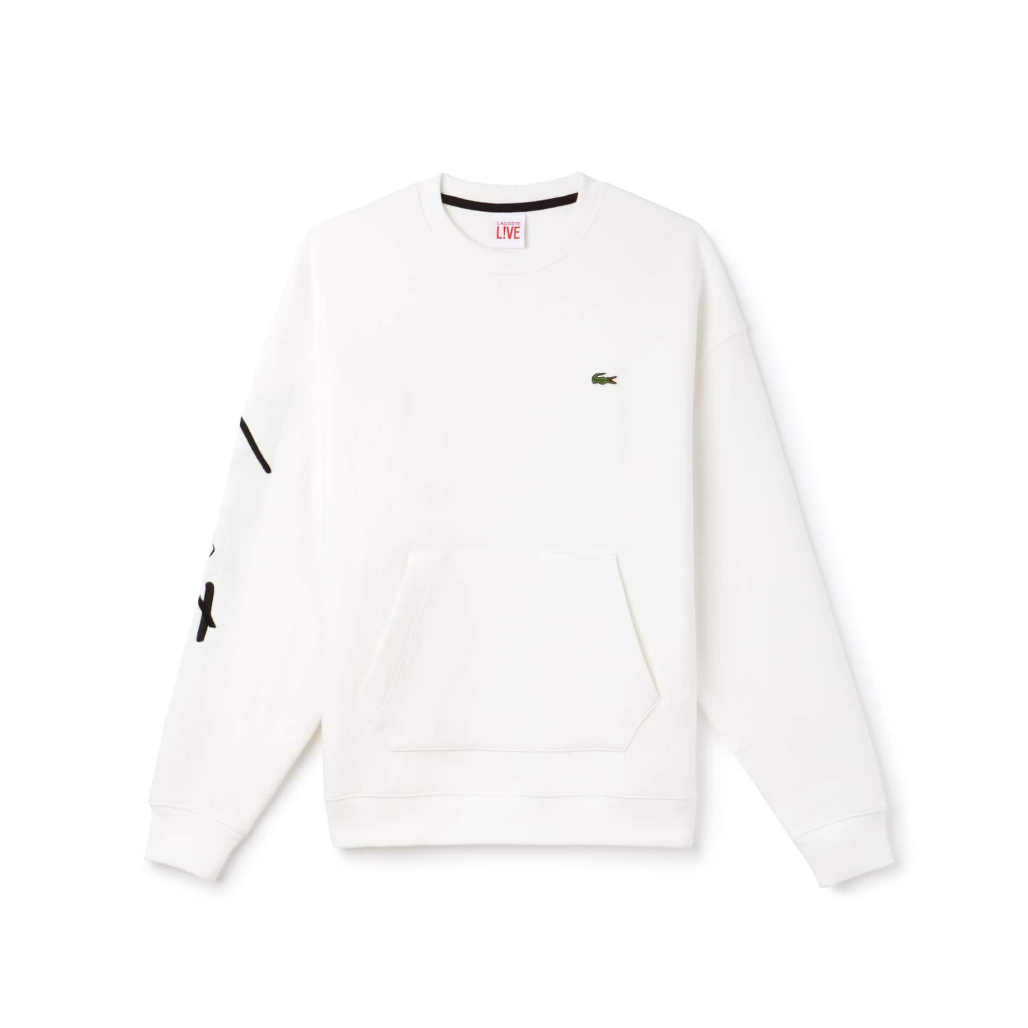 Lacoste LIVE系列圆领刺绣拉绒运动衫,男女皆宜