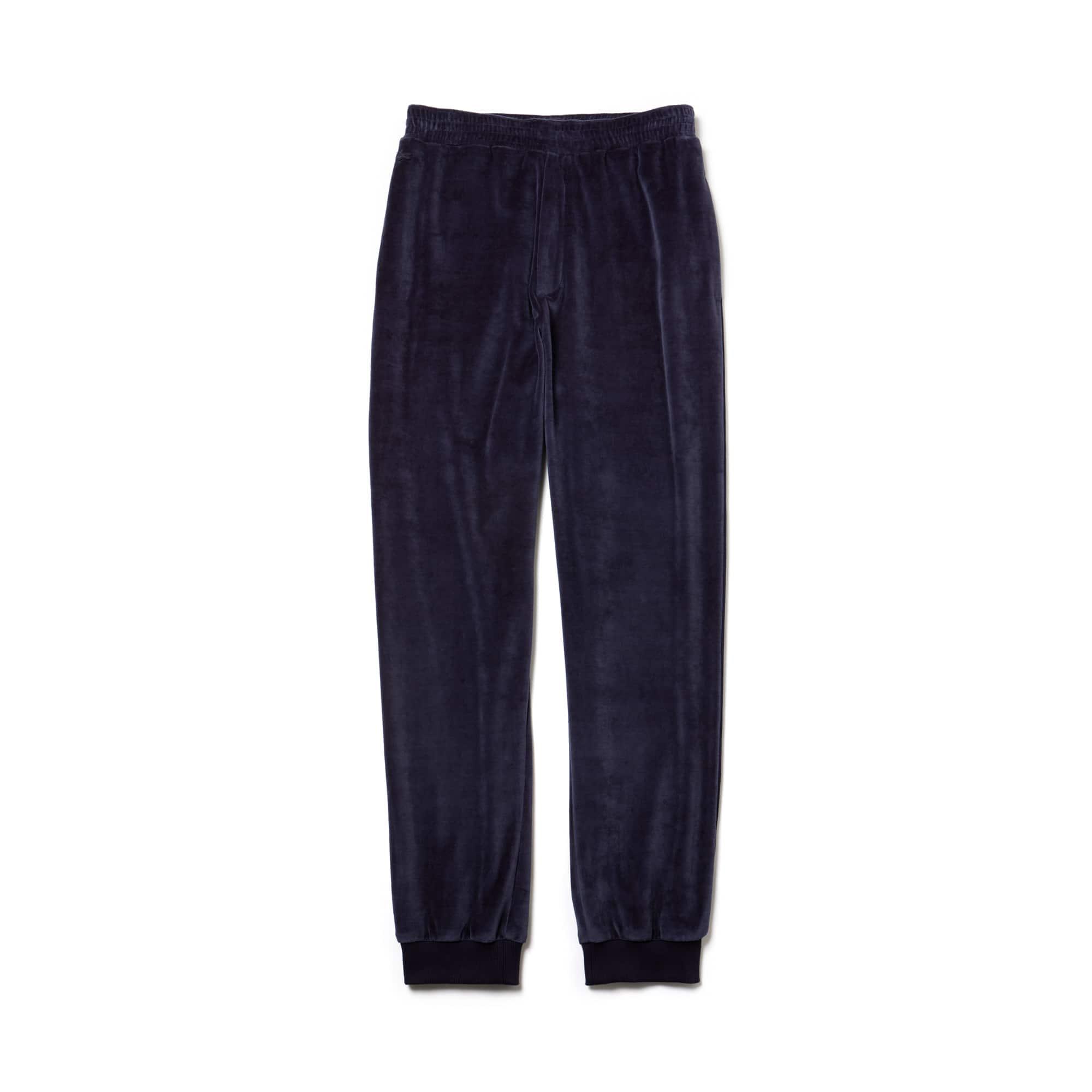 衍缝丝绒男士时尚运动裤