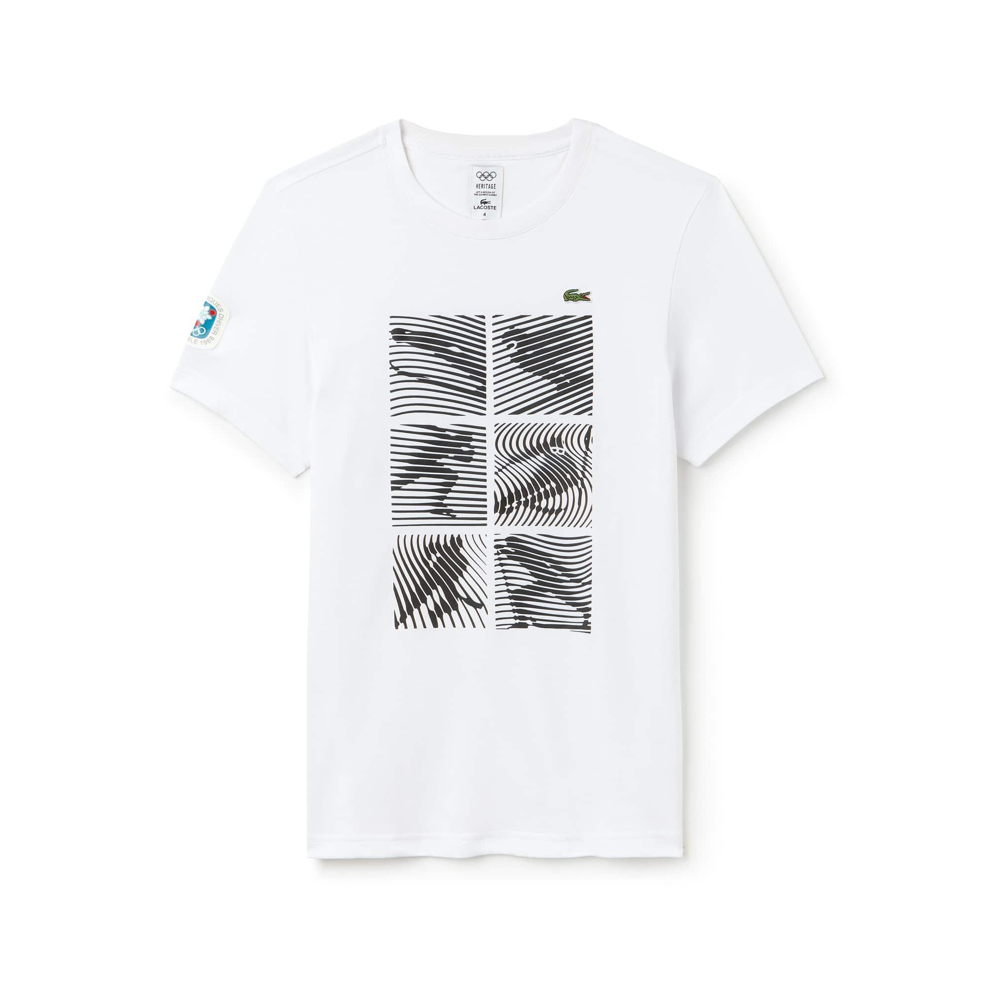 Lacoste SPORT系列奥运纪念版男士科技平纹针织面料T恤