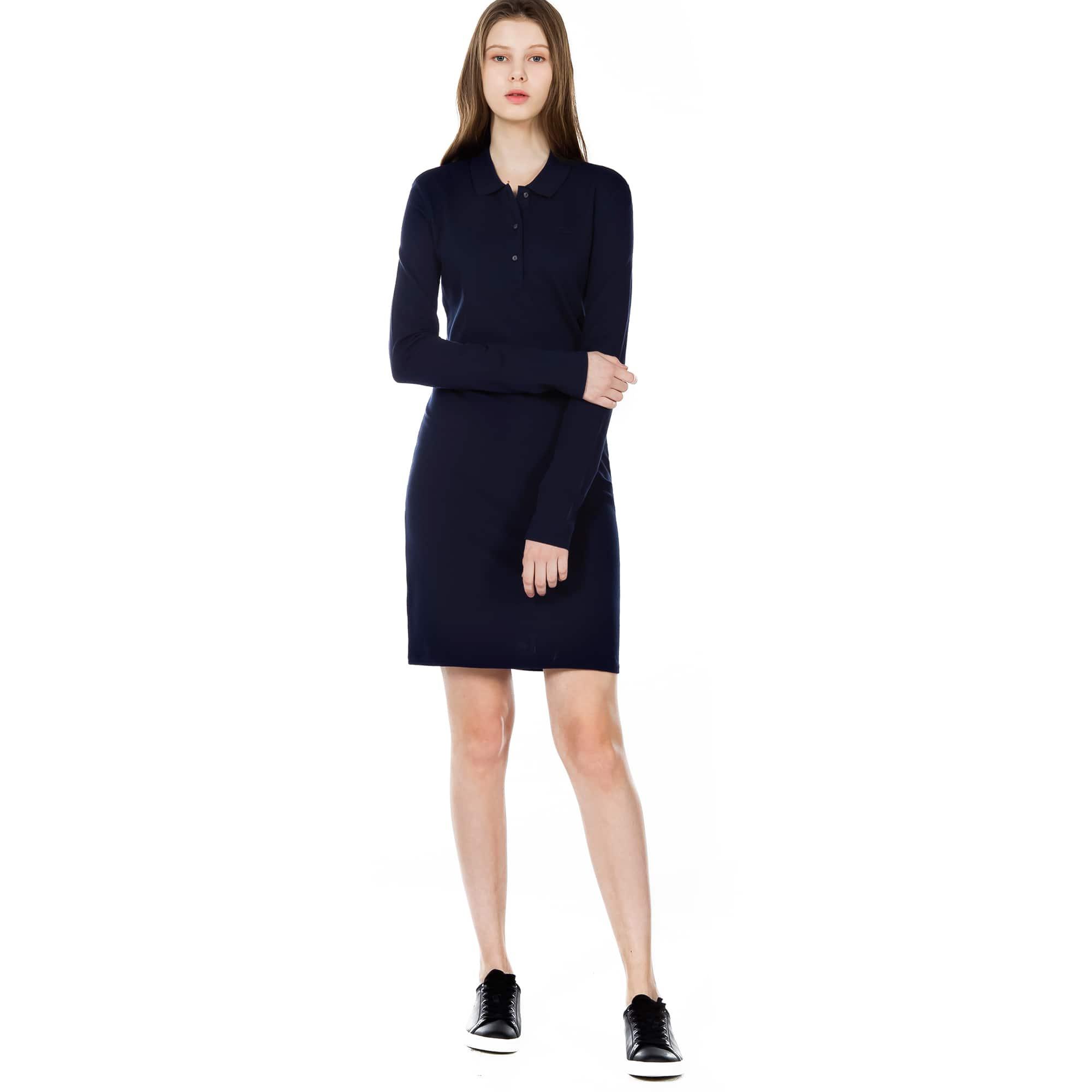 (여성) 스트레치 미니 피케 솔리드 드레스