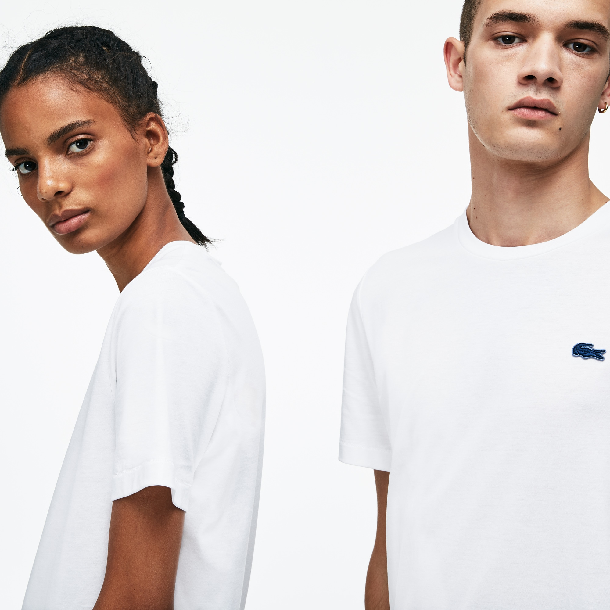 (남녀공용) 라코스테 저지 베이직 솔리드 티셔츠