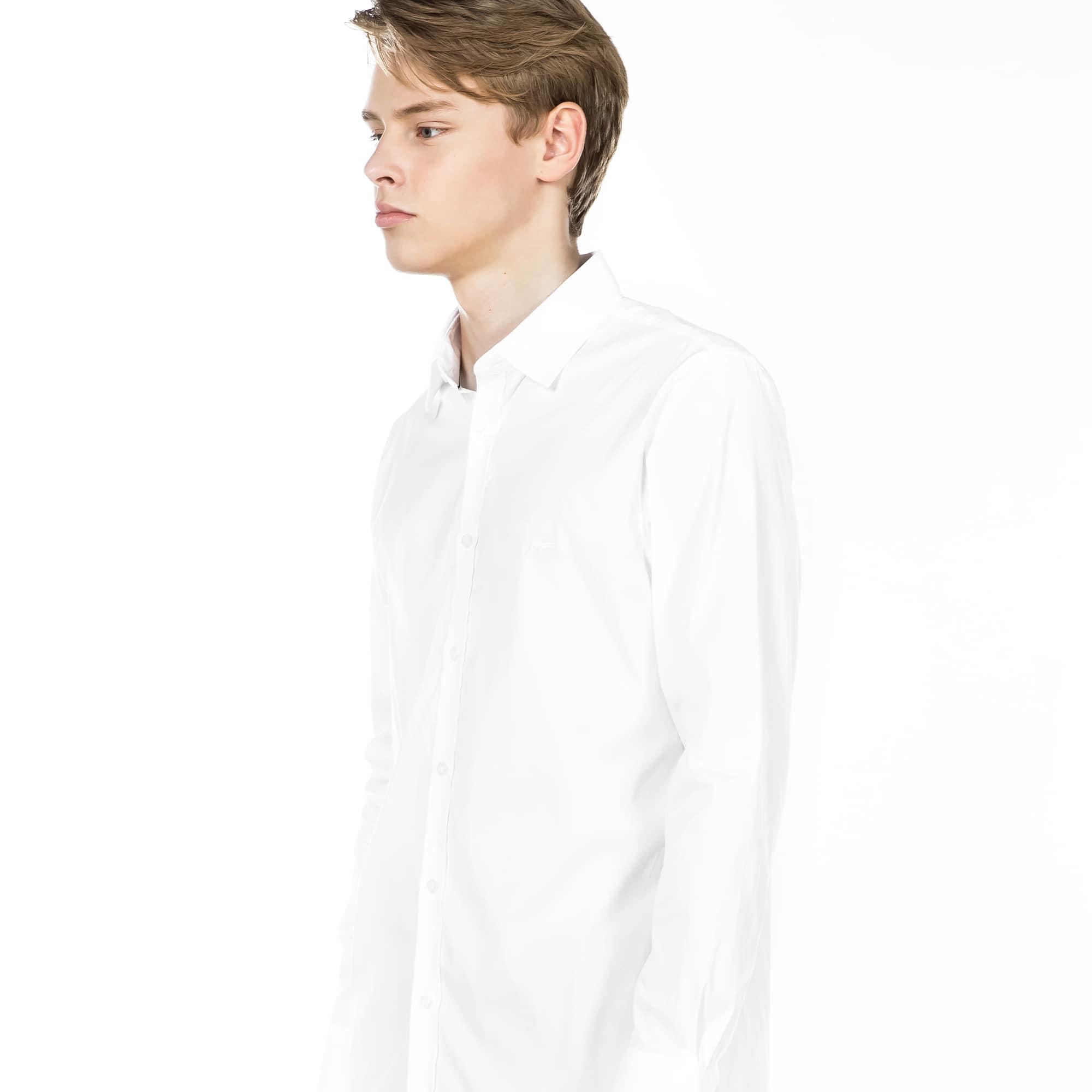 (남성) 라코스테 포플린 코튼 슬림 셔츠