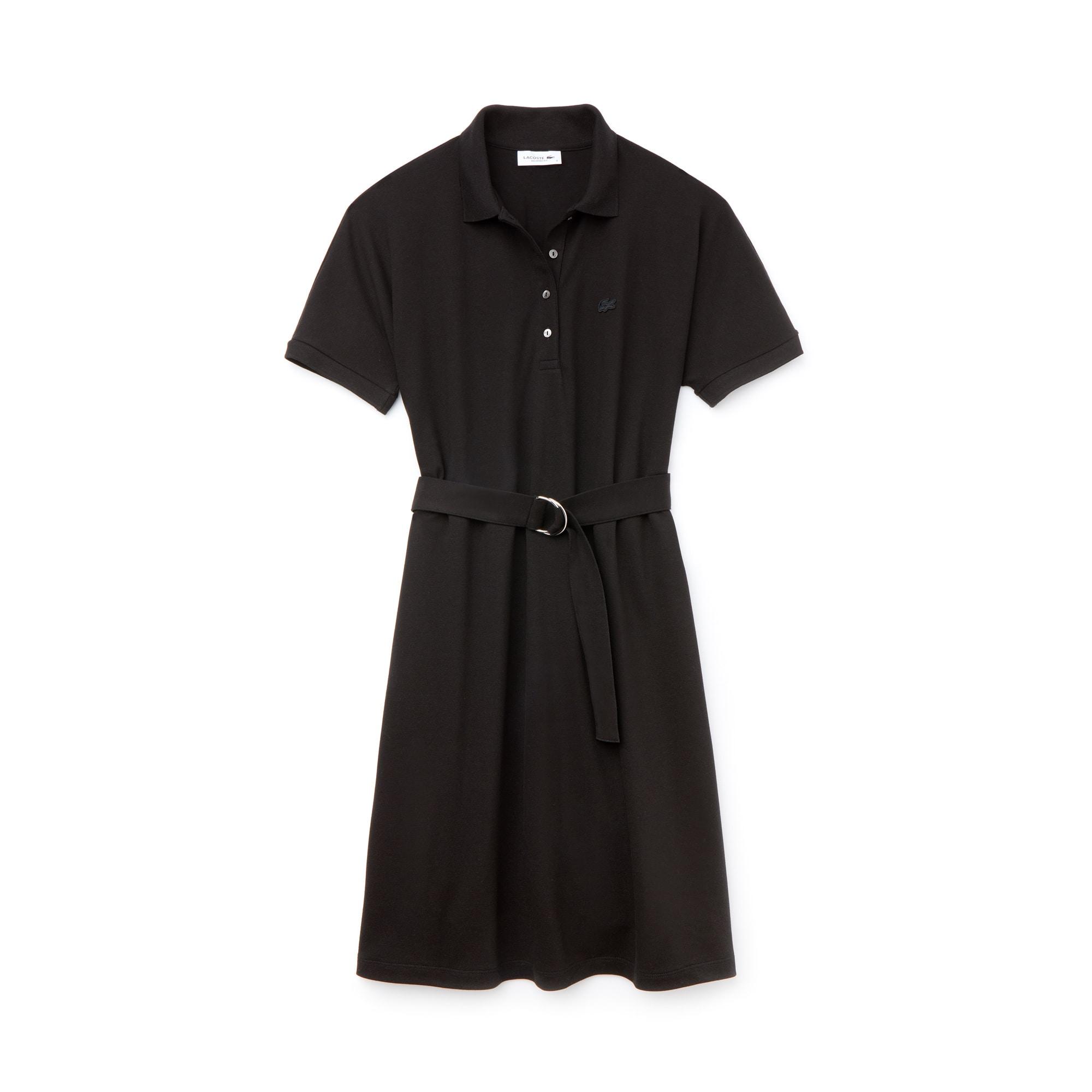 Lacoste女士流线型棉质凸纹网眼面料Polo连衣裙