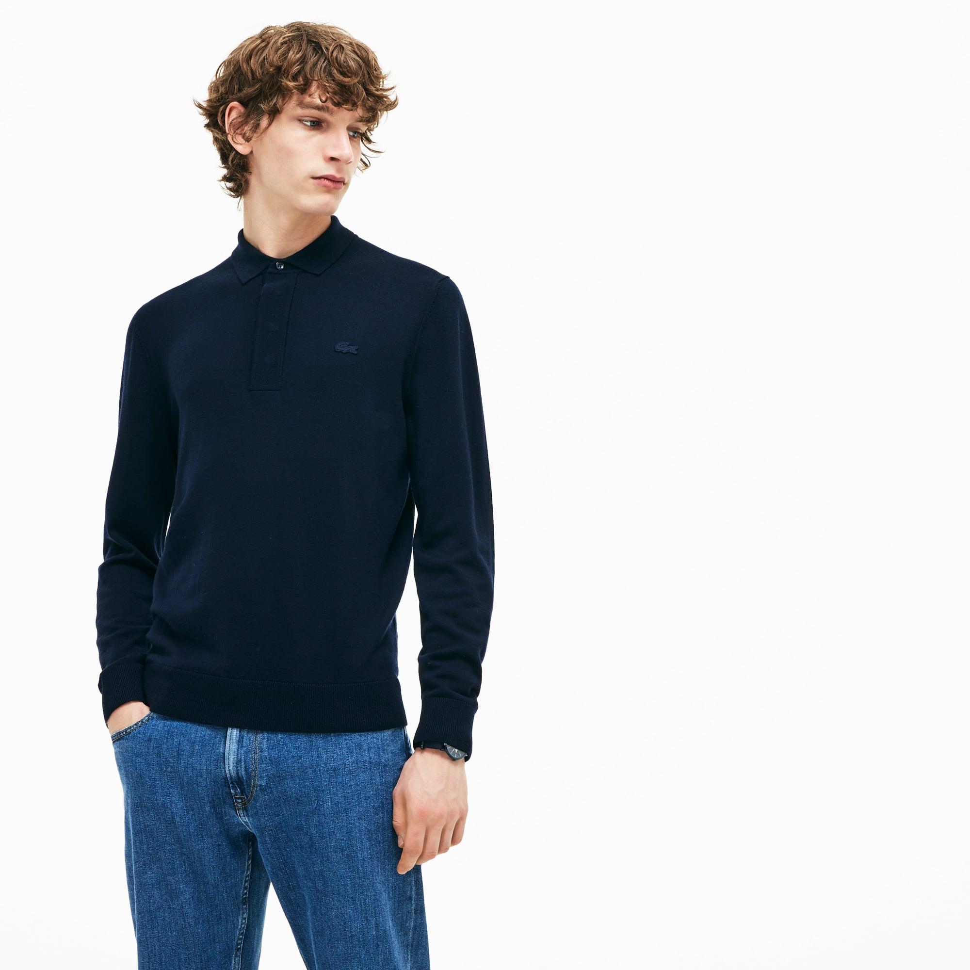 男士羊毛平纹针织面料毛衣