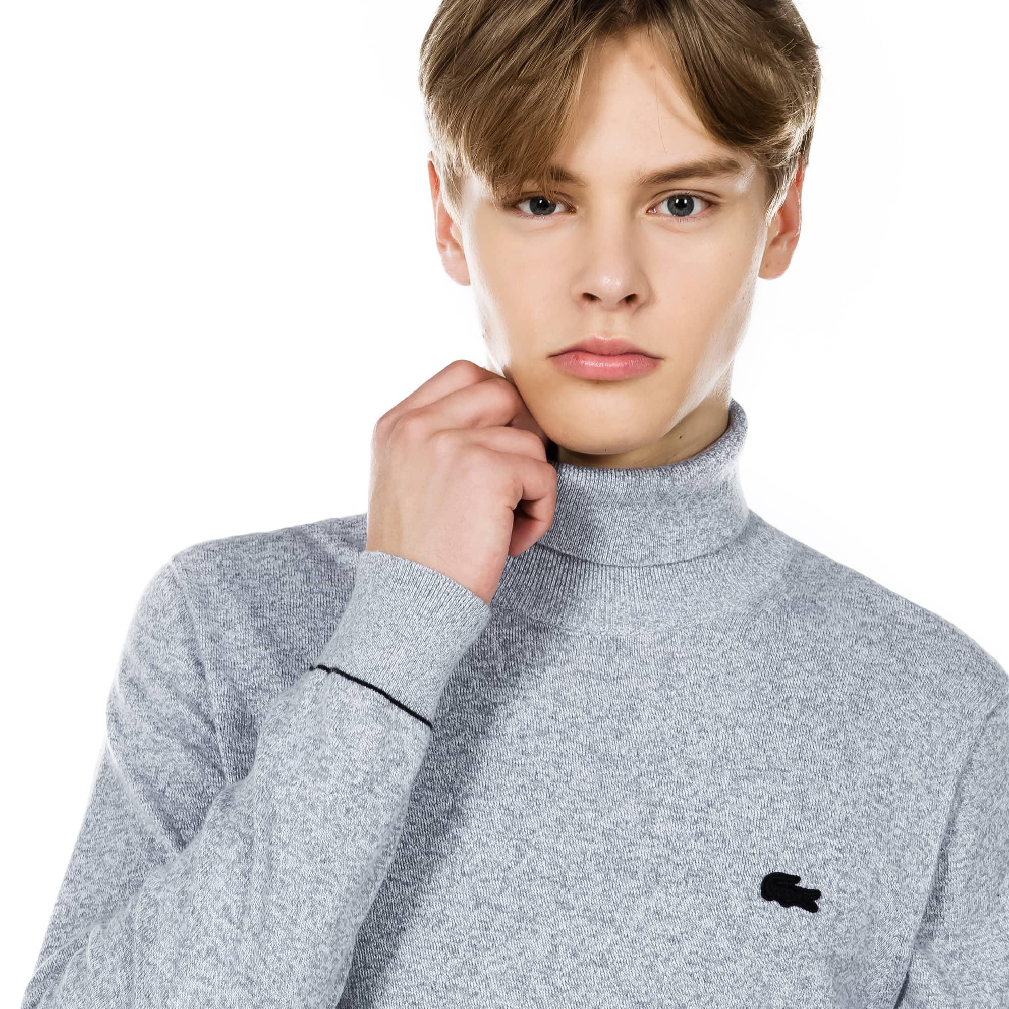 (남성) 라코스테 라이브 터틀넥 코튼 캐시미어 저지 스웨터