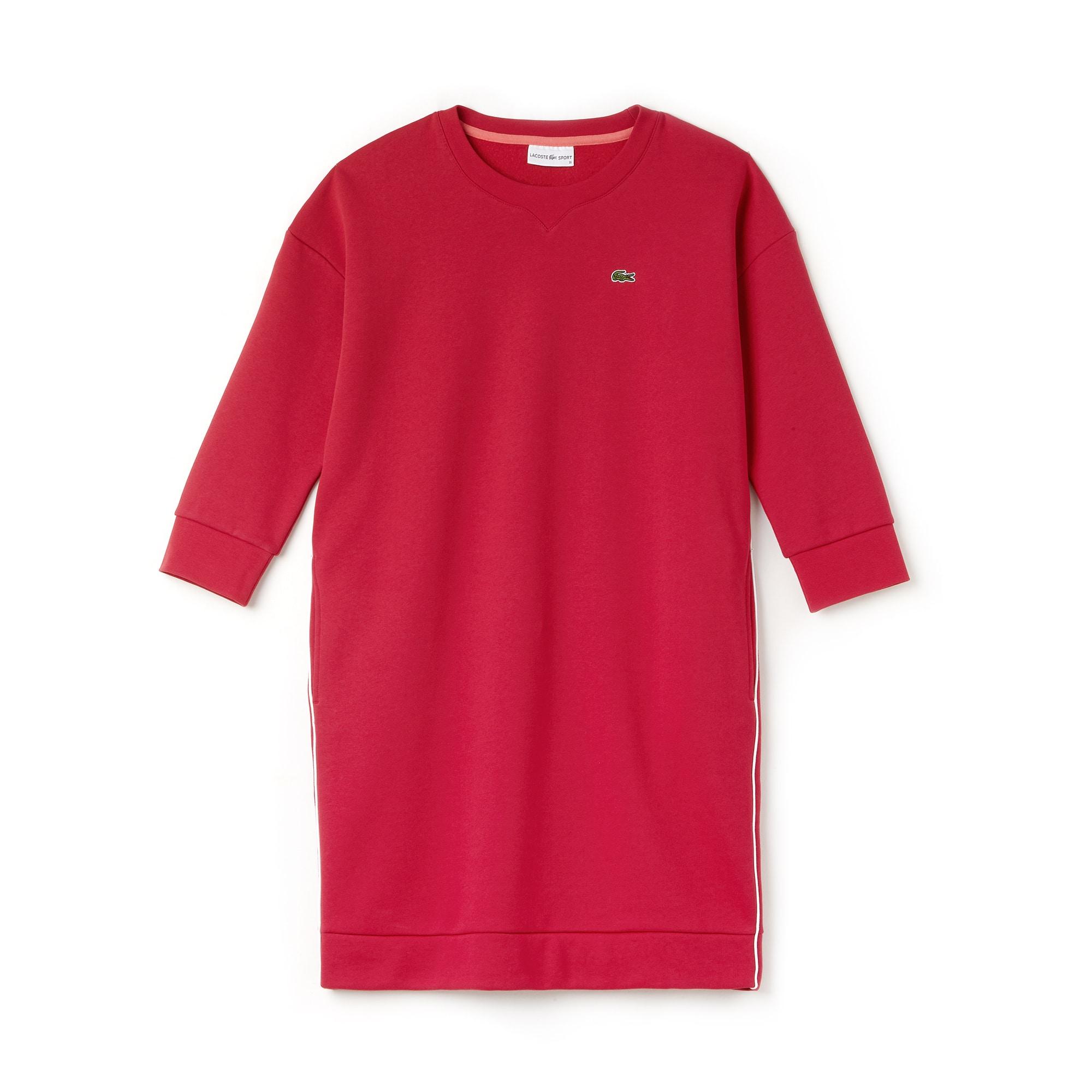 Lacoste SPORT系列女士滚边拉绒网球运动衫式连身裙