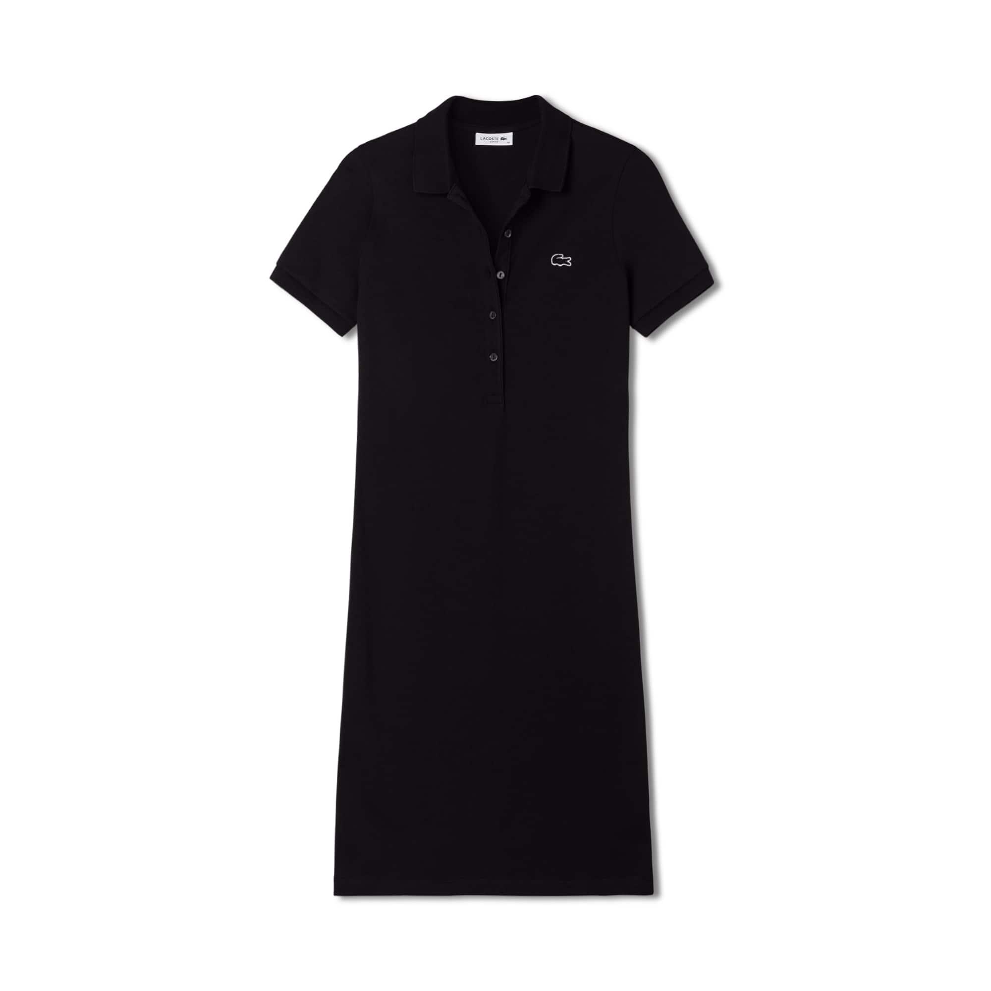 女式弹力棉凸纹网眼面料Polo裙