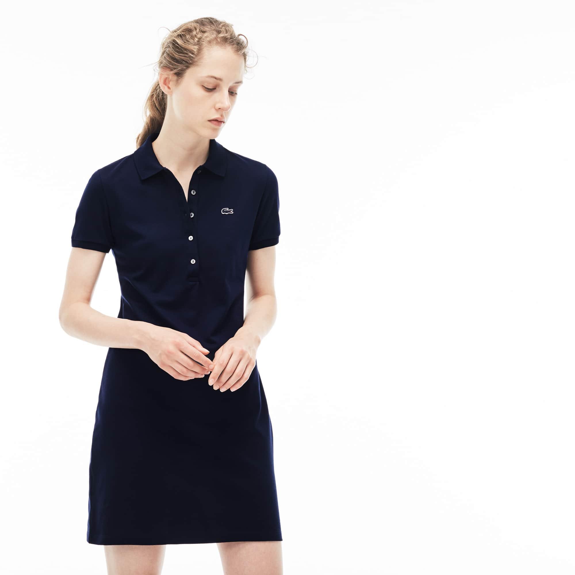 (여성) 스트레치 코튼 미니 피케 폴로 드레스