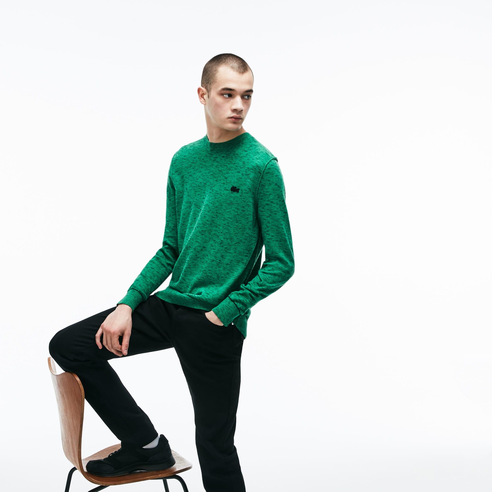(남성) 라코스테 라이브 크루넥 코튼 캐시미어 저지 스웨터