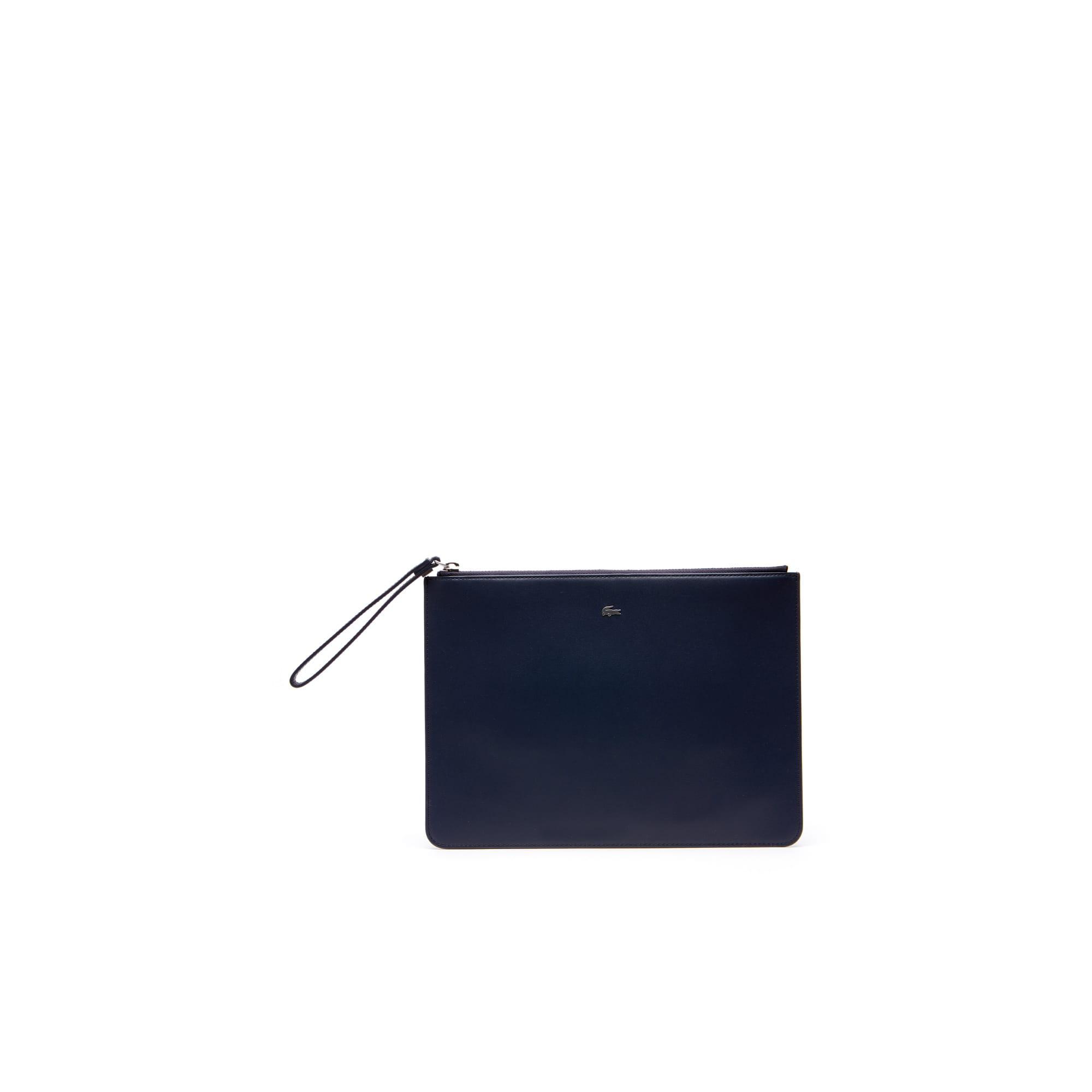 男士Fitzgerald系列色块拼接拉链皮革手拿包