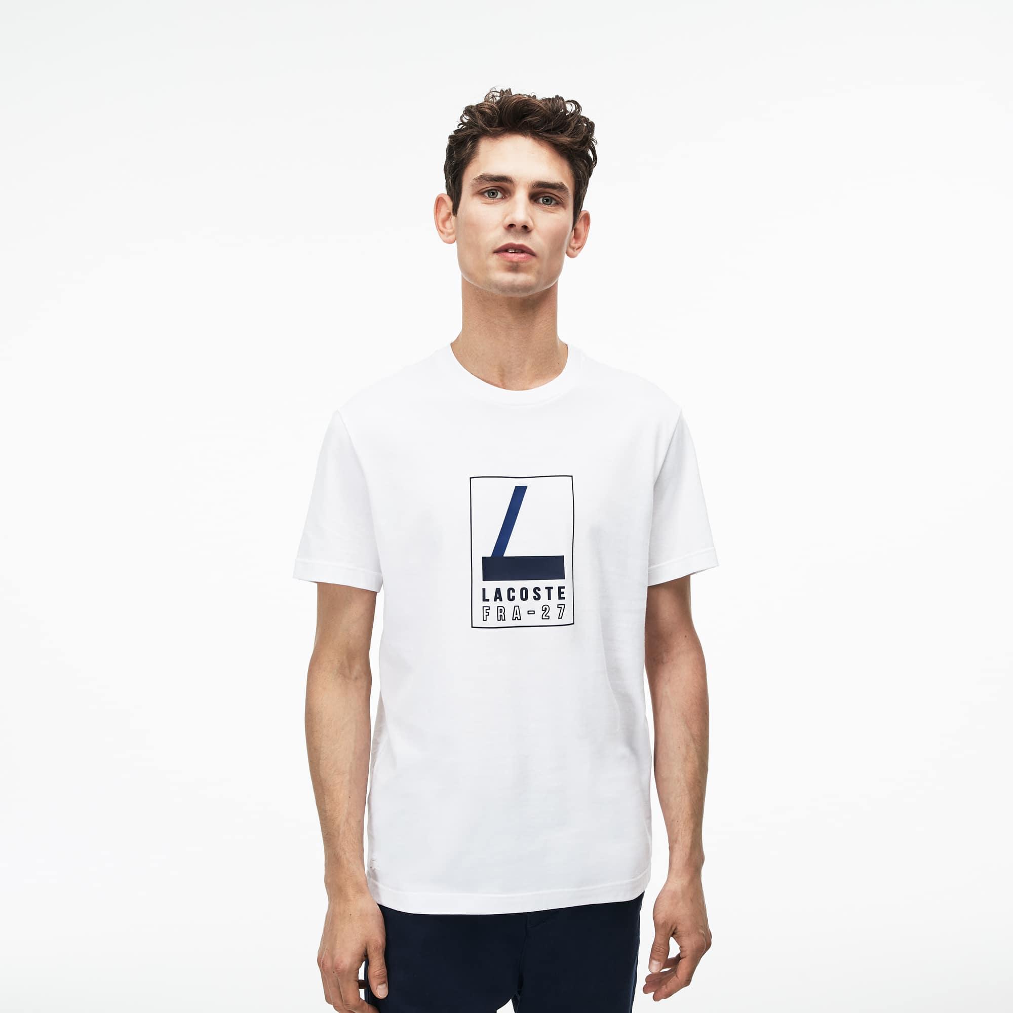 (남성) Lacoste 레터링 크루넥 소프트 저지 티셔츠