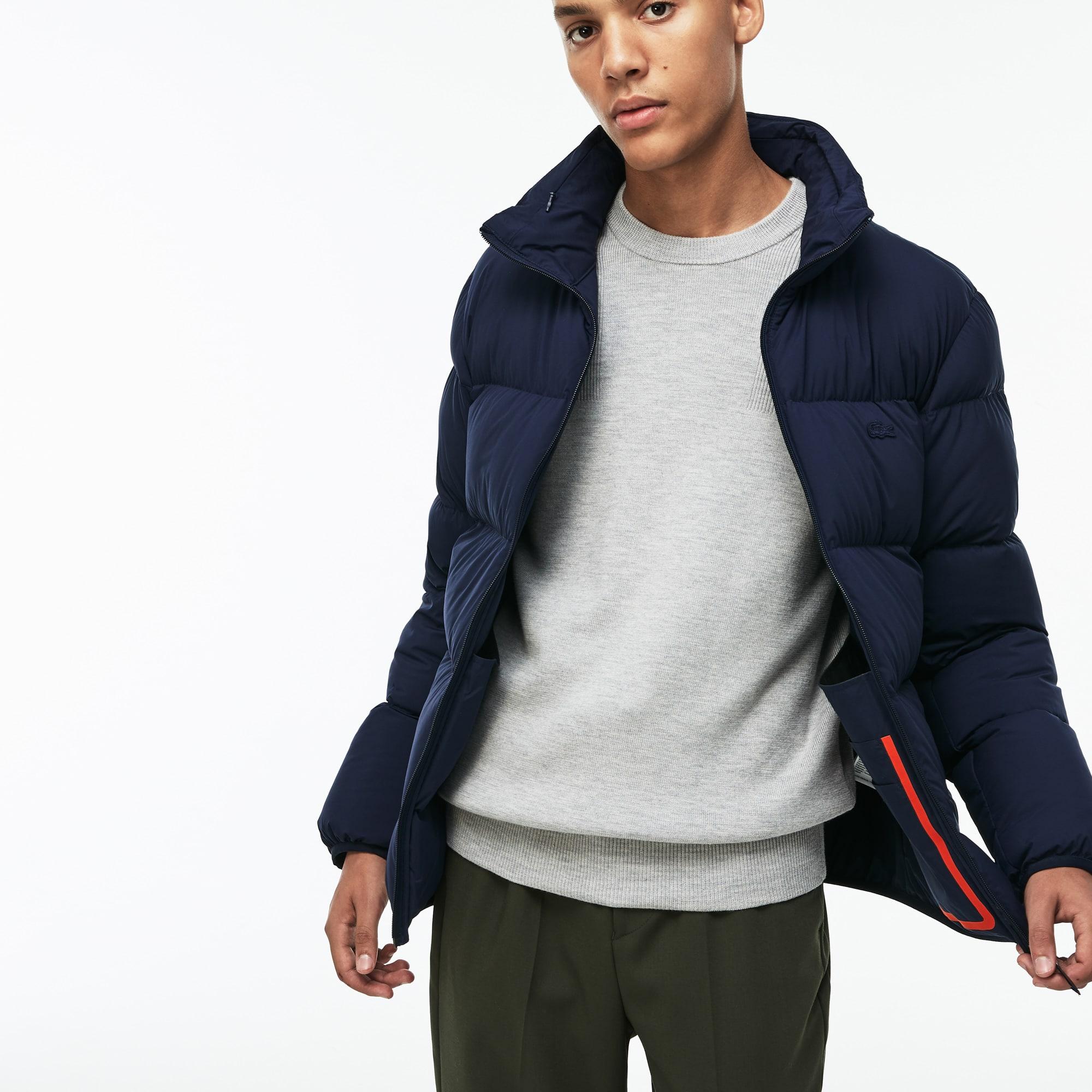 (남성) 라코스테 모션 숨김 후드 퀼팅 자켓