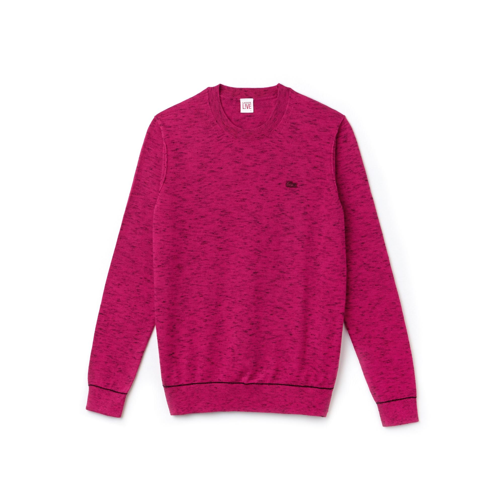 (여성) 라코스테 라이브 크루넥 코튼 캐시미어 저지 스웨터