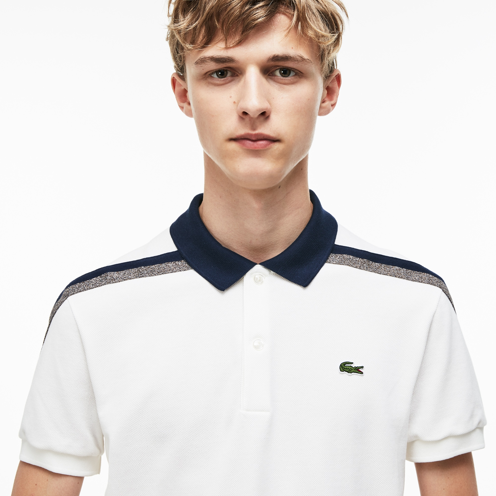 Lacoste Motion男士常规版棉质凸纹网眼面料Polo衫