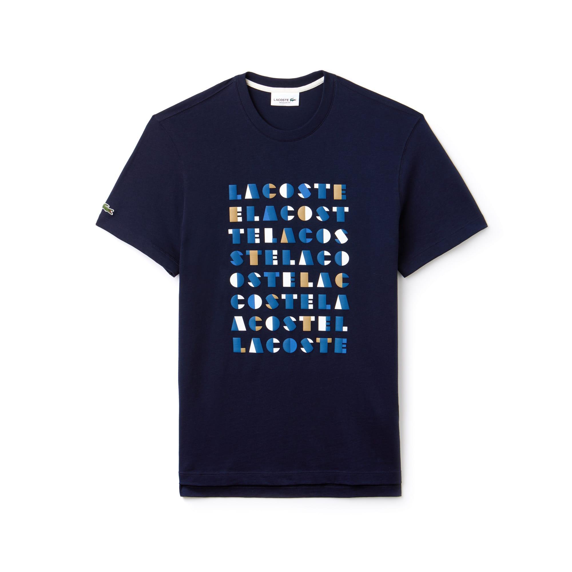 男士圆领3D字母棉质T恤
