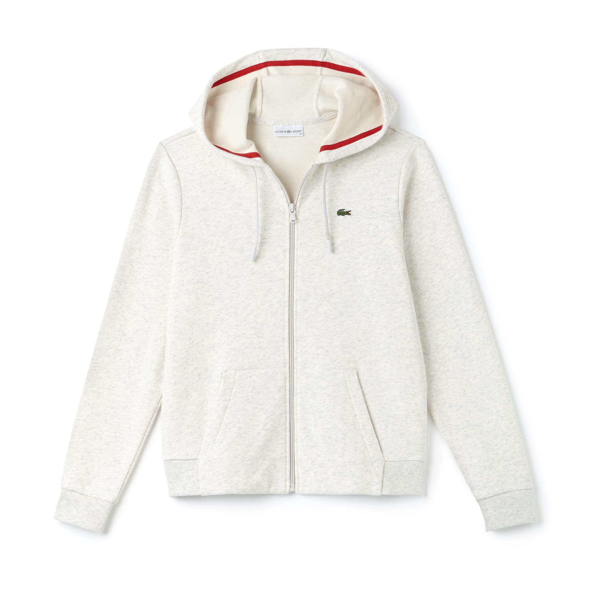 Lacoste SPORT女士网球连帽拉链抓绒运动衫