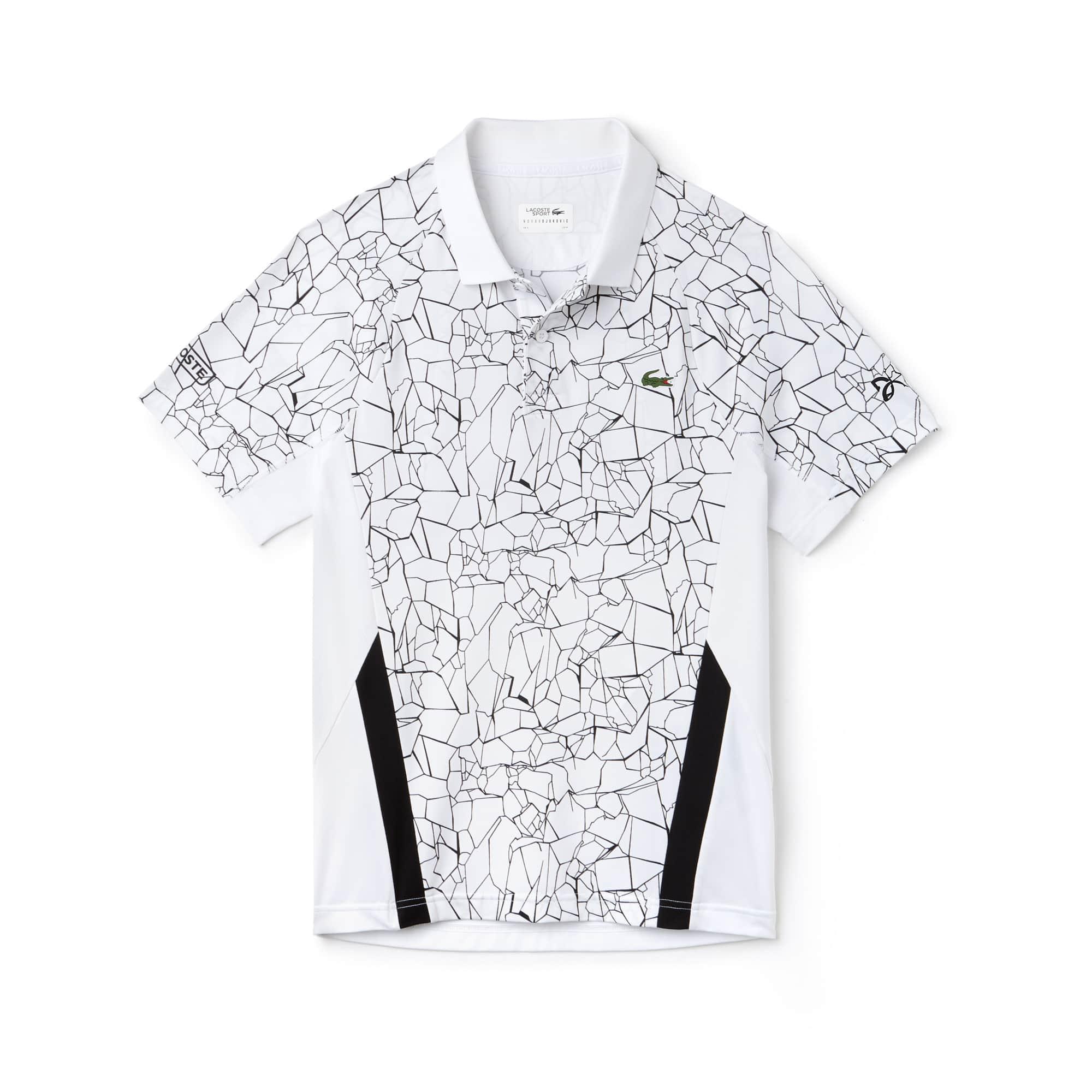 Lacoste SPORT系列诺瓦克·德约科维奇(NOVAK DJOKOVIC)合作款球场系列印花科技平纹针织面料男士Polo衫
