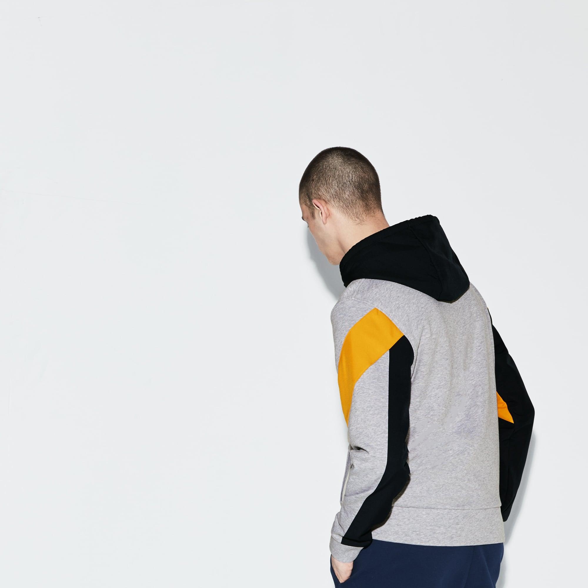 Lacoste SPORT男士连帽拉链拼色网球运动衫