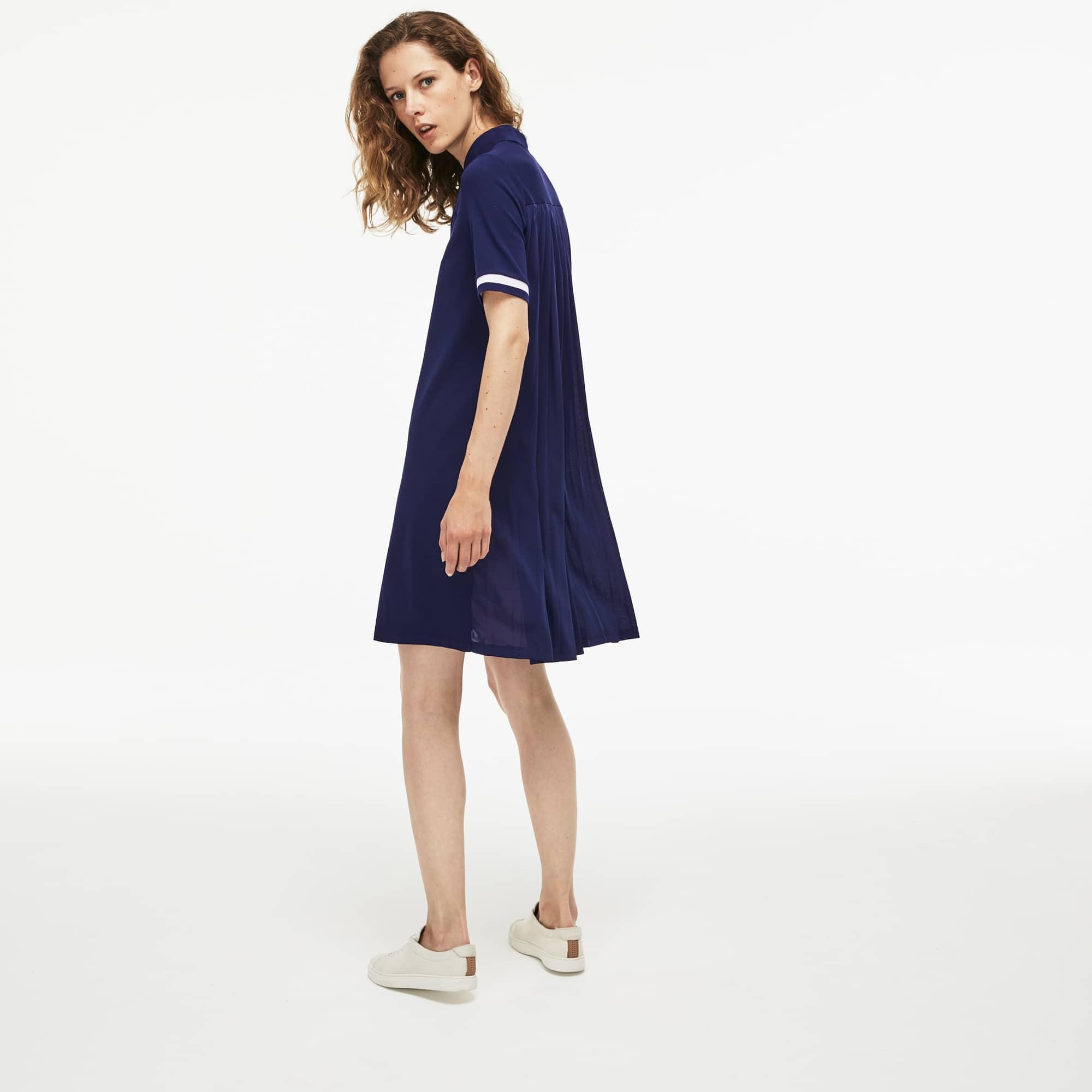 女士简约短袖POLO连衣裙