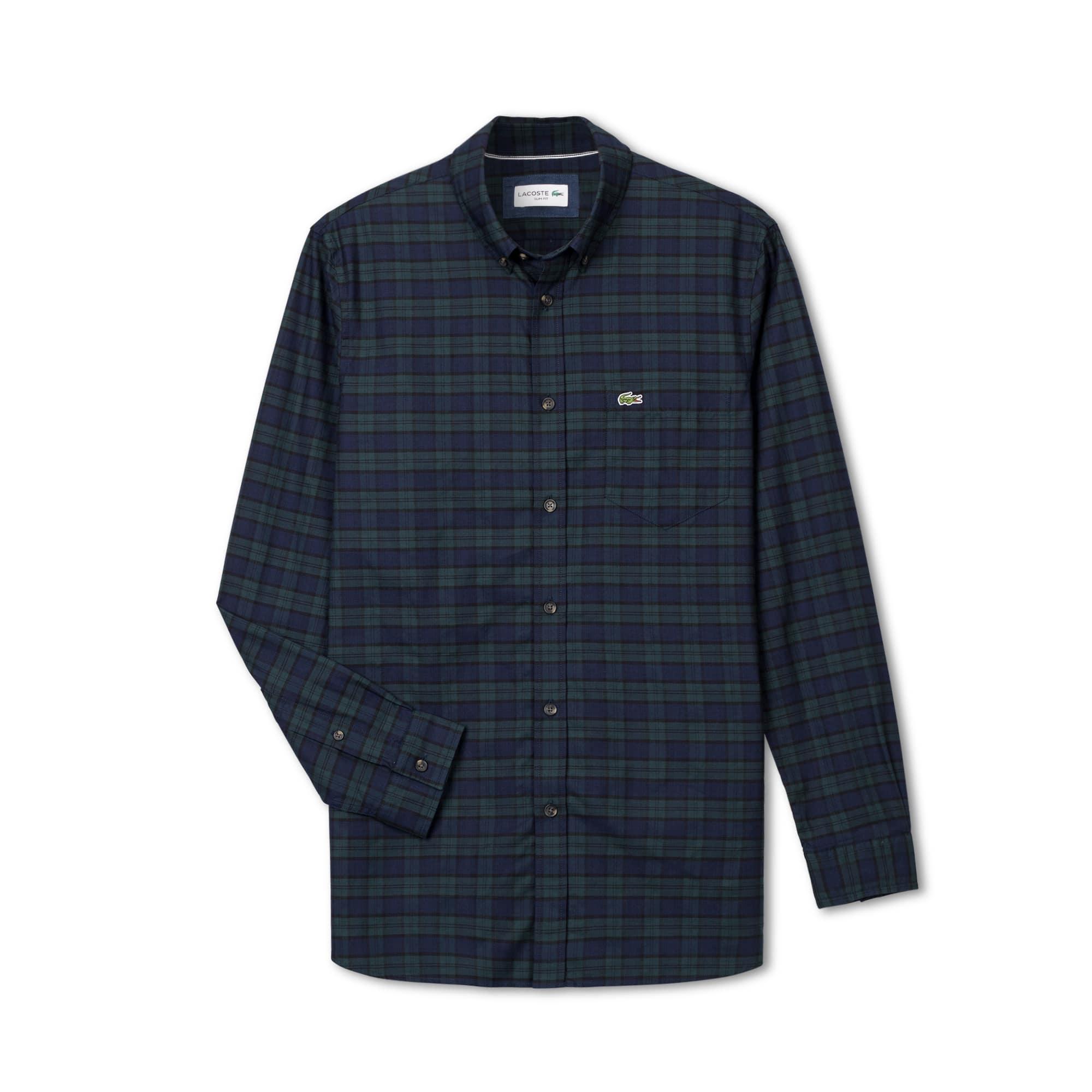 男士棉质长袖衬衫