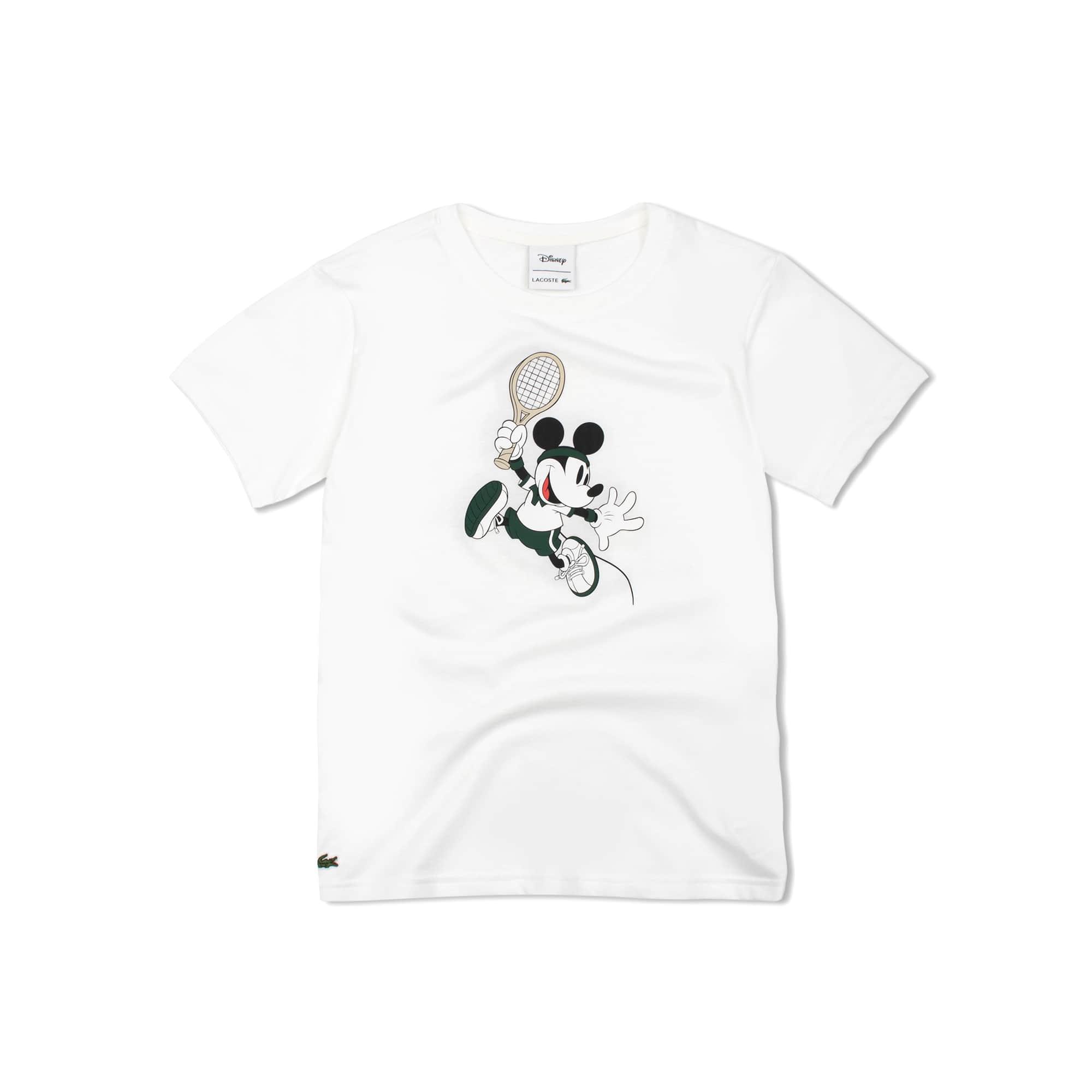 男童迪士尼米奇印花平纹单面针织T恤